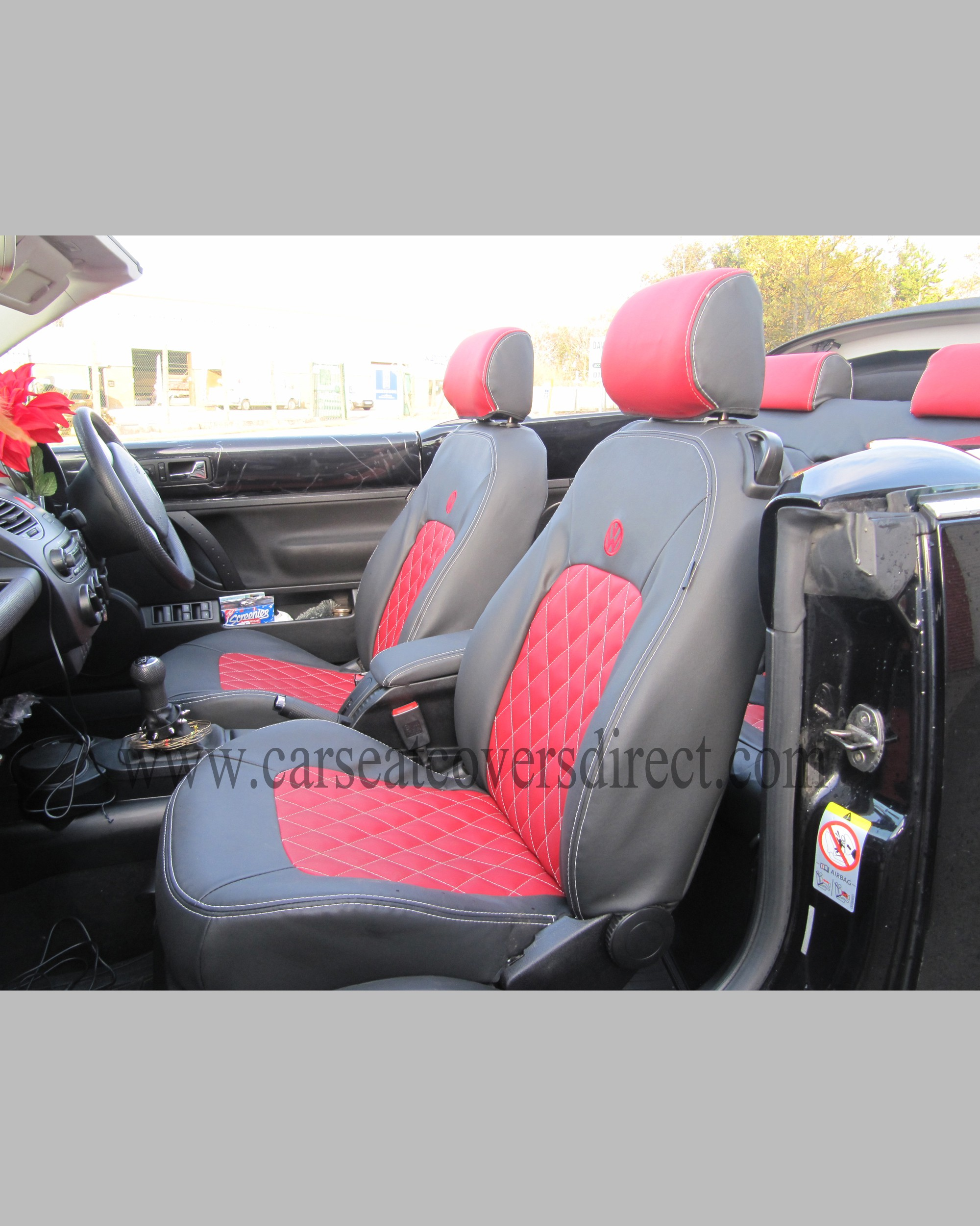 vw beetle tailored car tailored seat covers. Black Bedroom Furniture Sets. Home Design Ideas