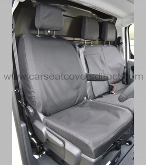 Toyota Proace Heavy Duty Seat Covers - drivers seat with armrest down