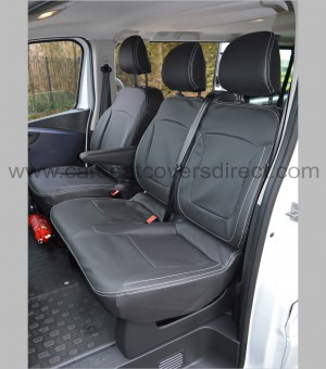 Opel Vivaro Tailored Seat Covers - passenger bench