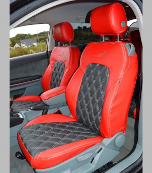 AUDI A3 S Line Red & Charcoal Car Seat Covers