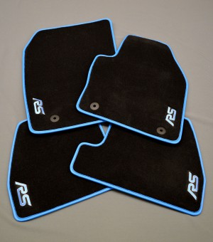 Ford Focus RS Prestige Tailored Car Mats With Nitrous Blue Binding (3rd Generation)