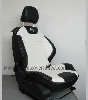 Citreon DS3 Seat Covers - Black & White with Logos