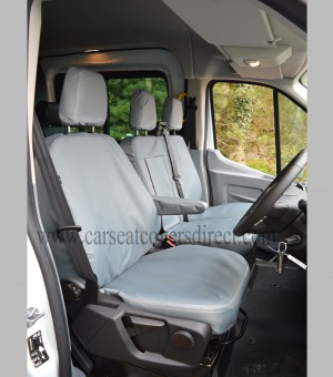 Ford Transit LWB / Tipper Extra Heavy Duty Waterproof Grey Seat Covers