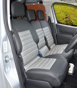 Peugeot Partner Tailored Quilted Van Seat Covers