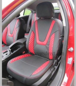 OPEL INSIGNIA Black & Red Seat Covers