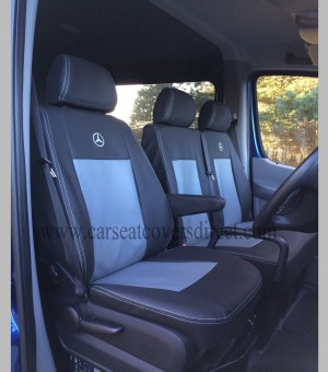 MERCEDES SPRINTER 2ND GEN Black & Grey Seat Covers