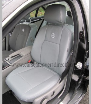 MERCEDES C-CLASS W204 Grey Leatherette Seat Covers