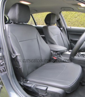 BMW 1 SERIES F20 Black Leatherette Seat Covers_4