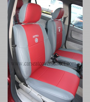 OPEL ASTRA G Red & Grey Seat Covers