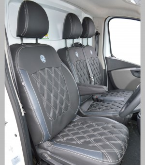 Vauxhall Vivaro Tailored Leather Look seat covers