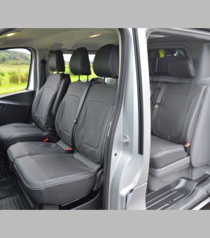 Vauxhall Vivaro Crew / Double Cab Tailored Leather Look Van seat covers