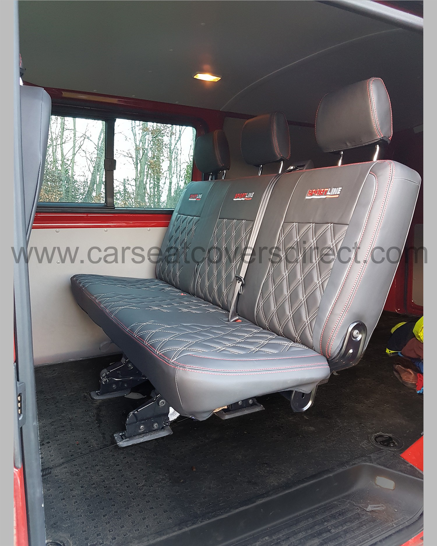 VW Transporter T5 Kombi Seat Covers - Charcoal Grey with ...