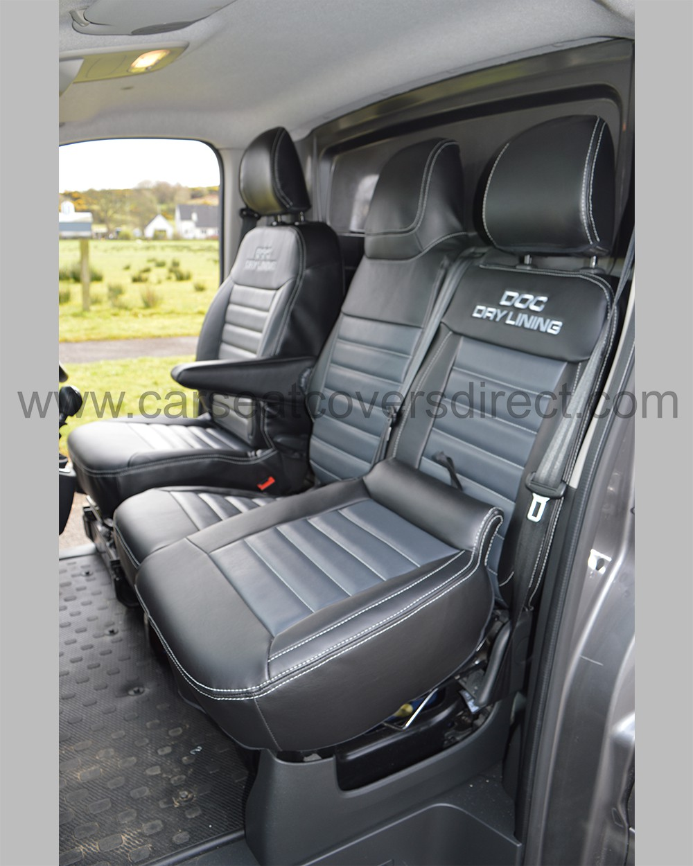 Vauxhall Vivaro Seat Covers Black With Grey Car Seat