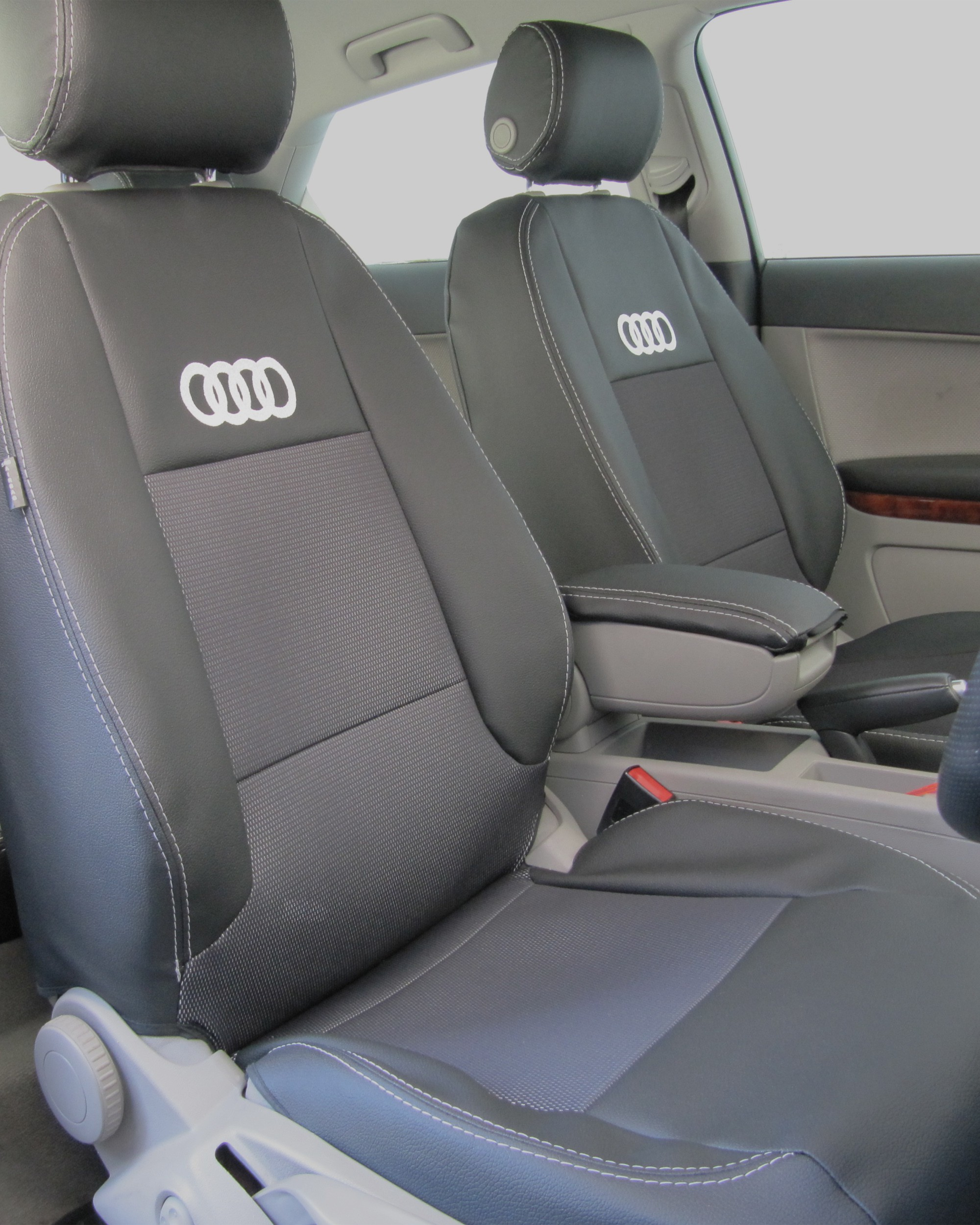 Car Seat Covers Fit Audi A6 Full Set Black Silver Vehicle Parts Accessories Car Accessories
