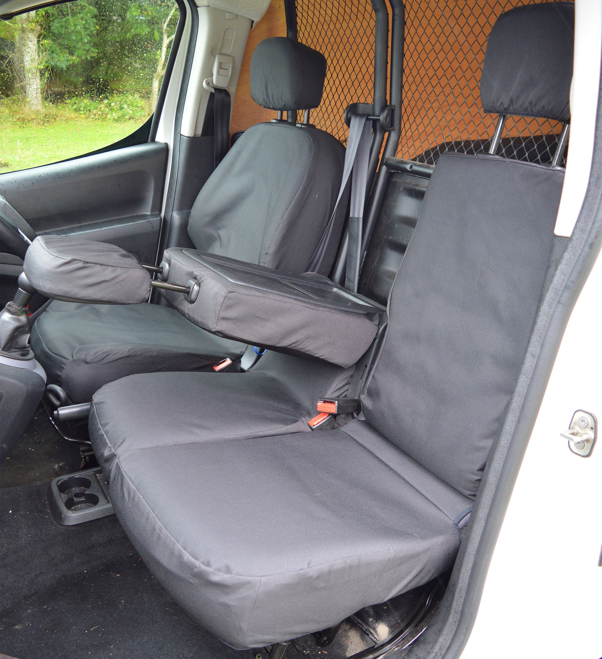 Heavy Truck Seat Covers : Peugeot partner tailored heavy duty seat cover car