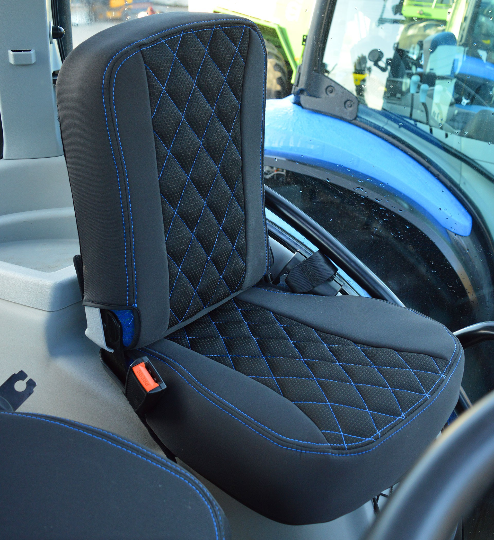 Grammer Seat Covers : New holland tractor tailored seat covers for grammer
