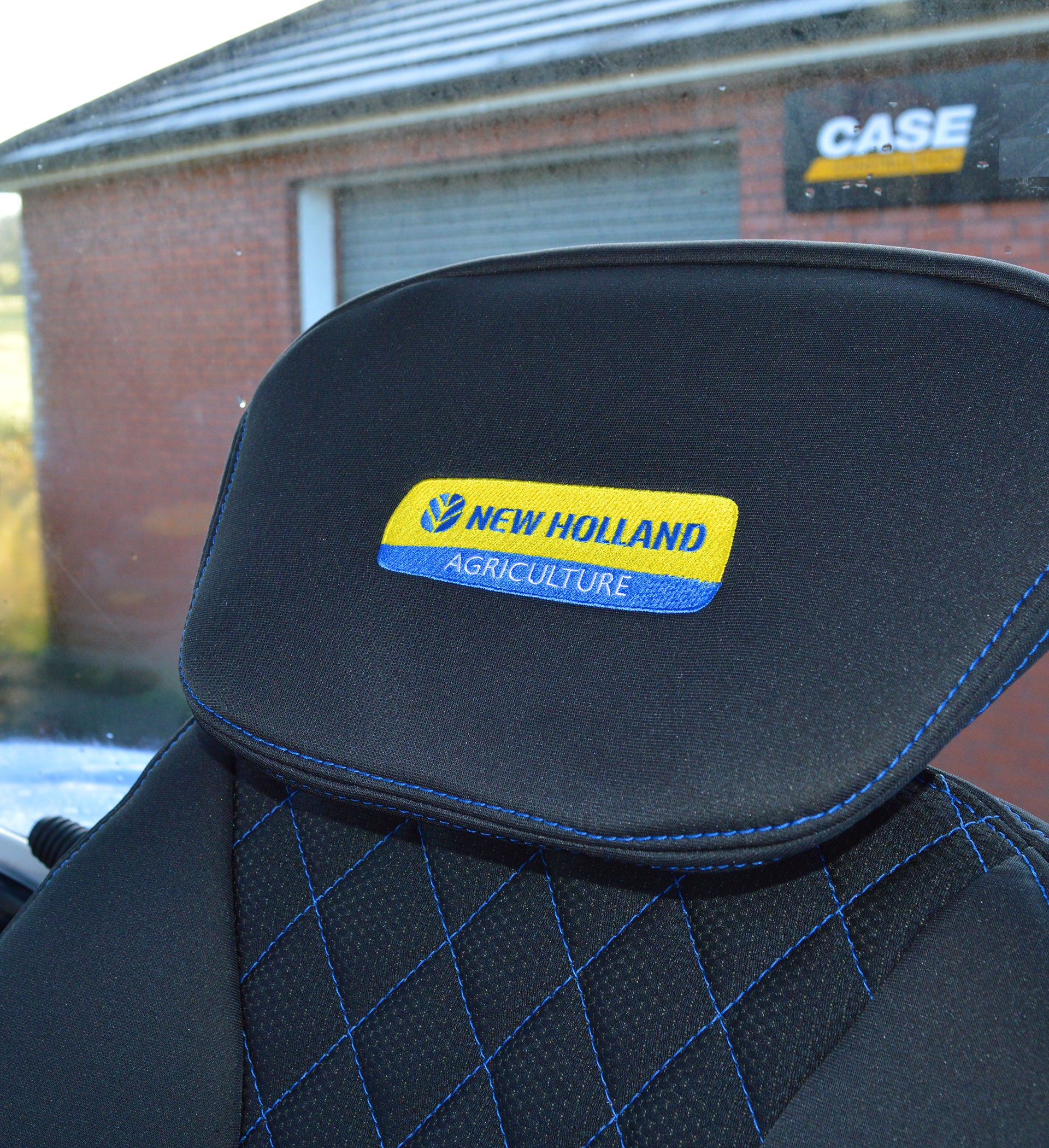 New Holland Tractor Tailored Seat Covers For Grammer Maximo Dynamic Seat  and Passenger Side Seat