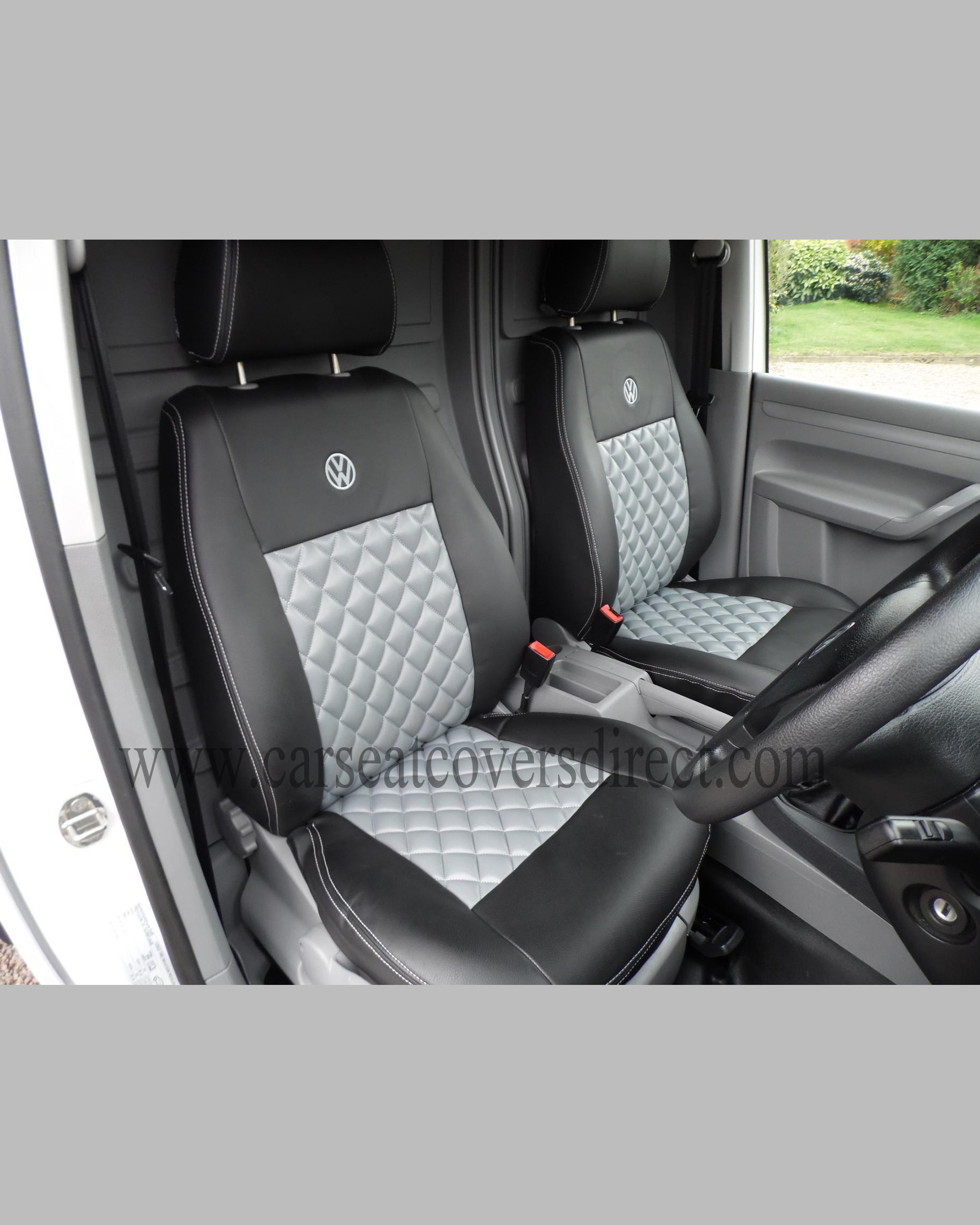 volkswagen vw caddy black grey seat covers car seat covers direct tailored to your choice. Black Bedroom Furniture Sets. Home Design Ideas