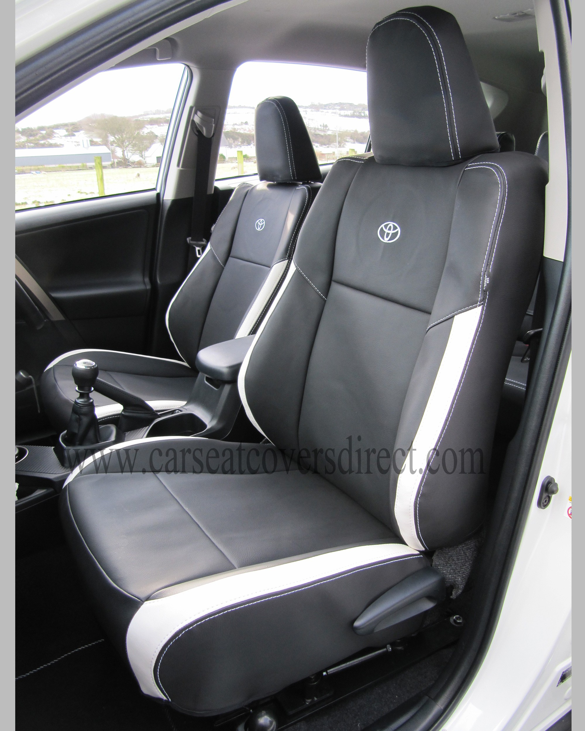 Toyota Rav4 Seat Covers Black Amp White Leatherette 4th