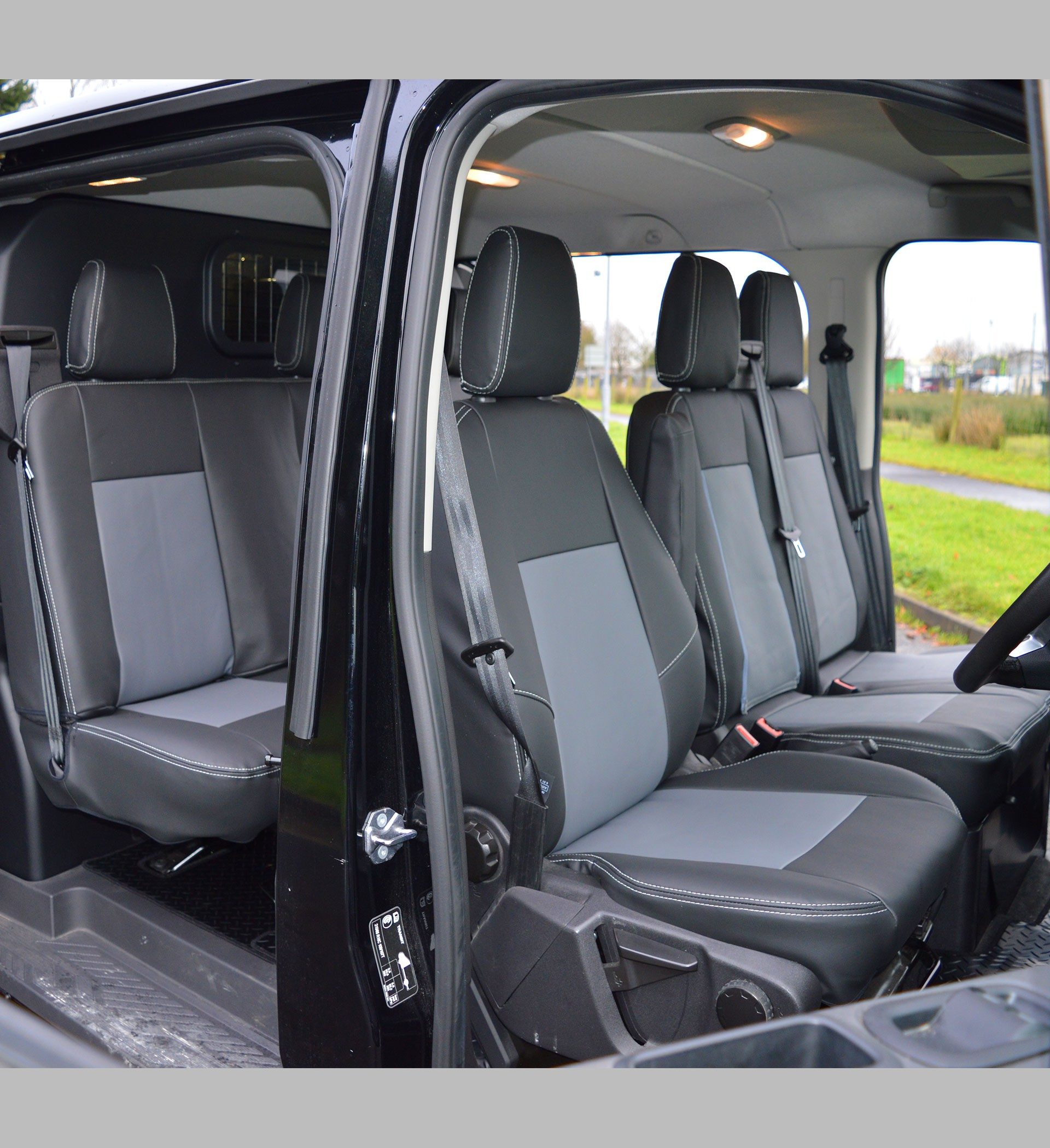 Ford Transit Connect Camper >> Ford Transit Custom Crew Cab Waterproof Tailored Van Seat ...