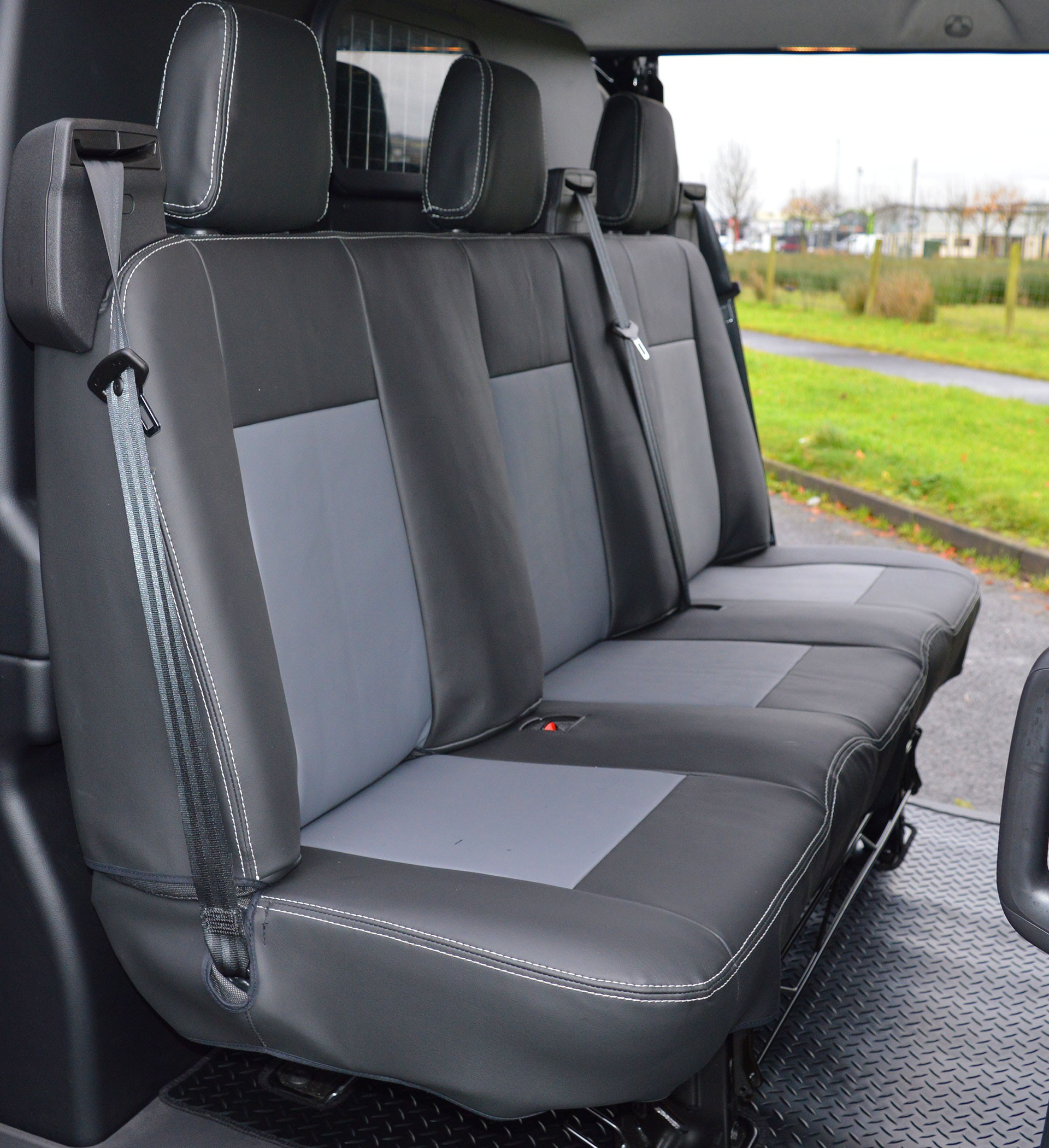 ford transit custom crew cab waterproof tailored van seat covers foam backed car seat covers. Black Bedroom Furniture Sets. Home Design Ideas