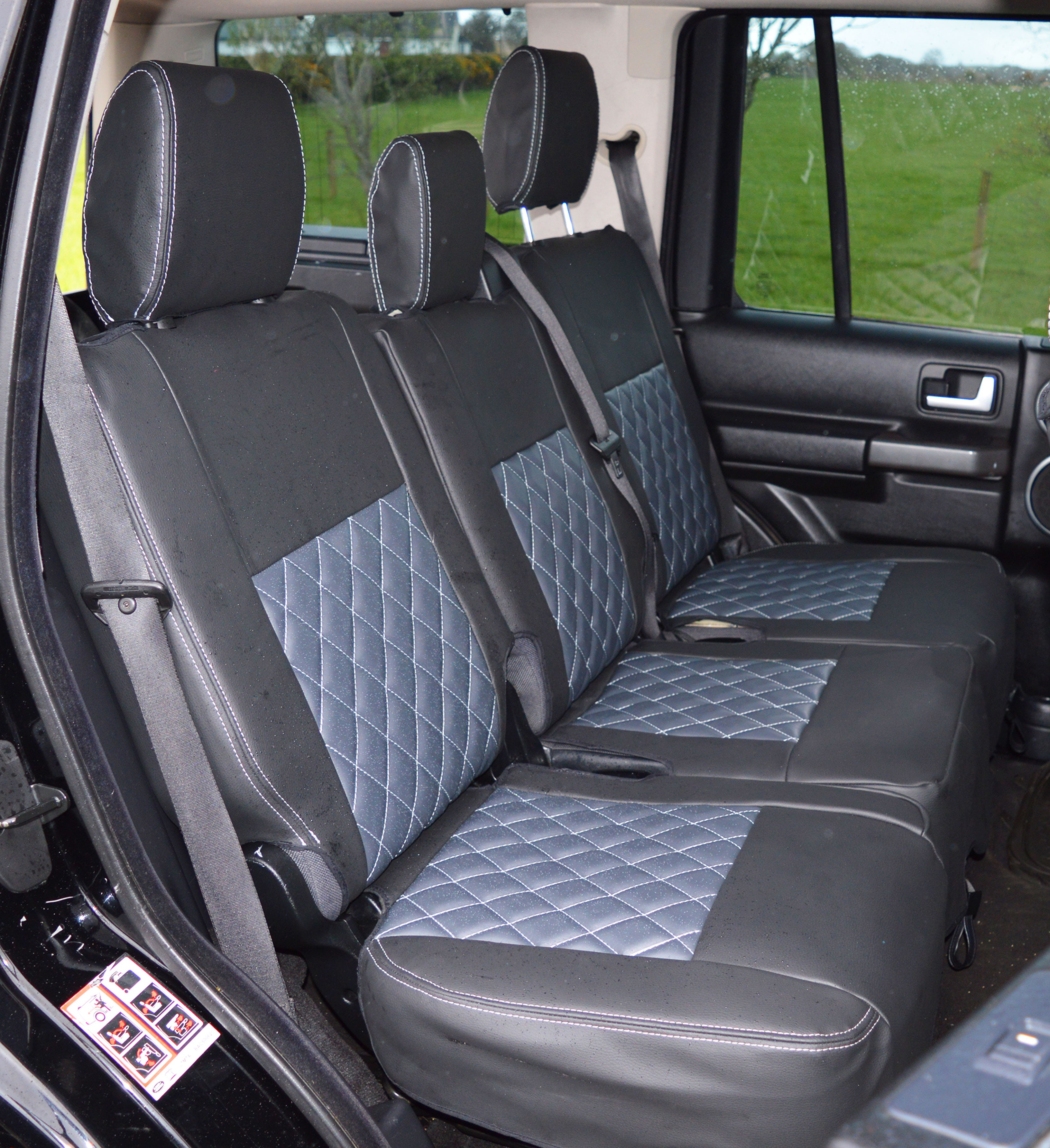 Land Rover Discovery 3 5 Seater Tailored Diamond Quilted ...
