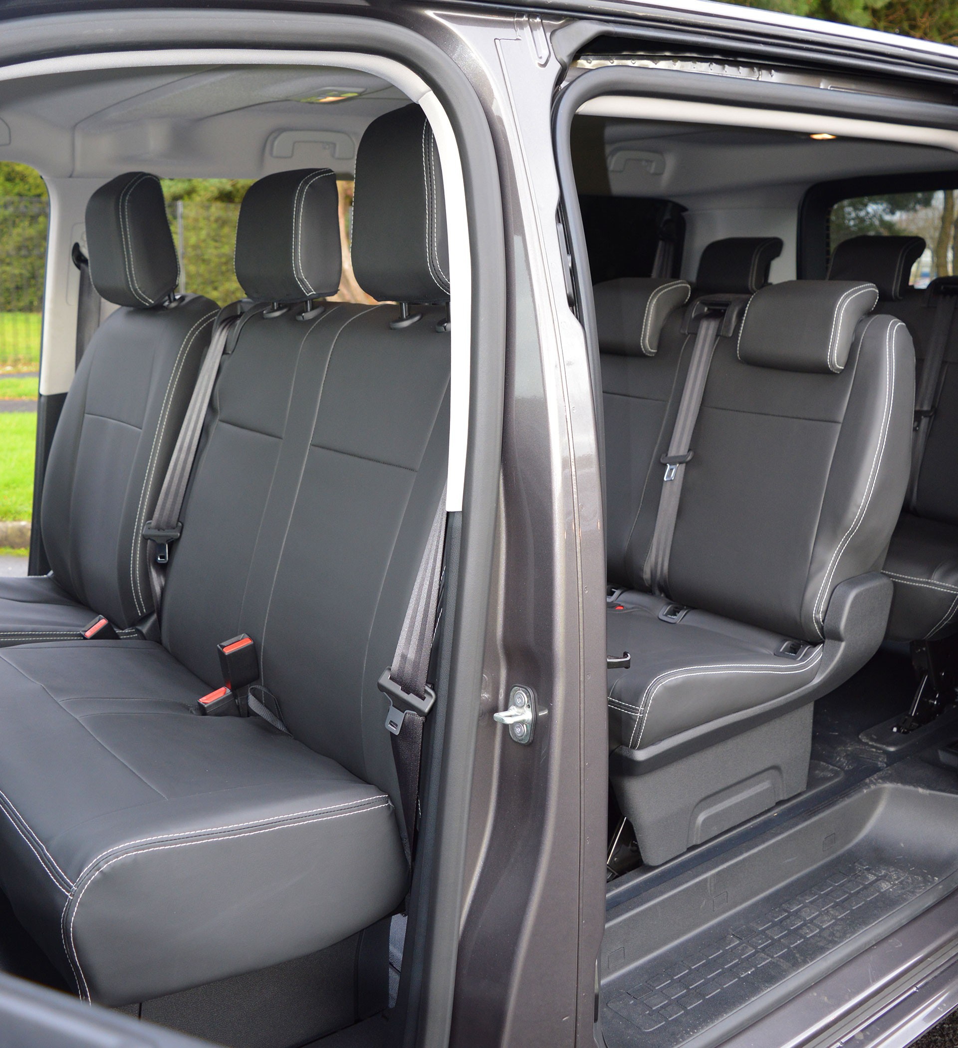 citroen spacetourer 9 seater 2016 tailored waterproof leatherette seat covers ebay. Black Bedroom Furniture Sets. Home Design Ideas