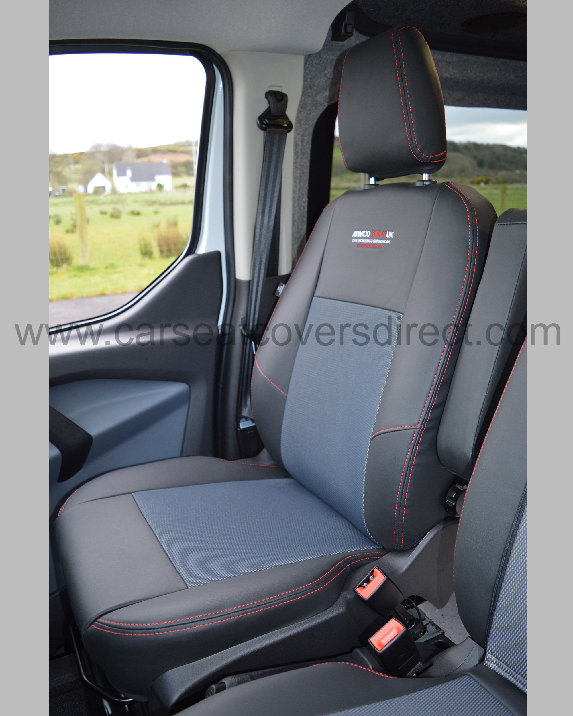 Ford Transit Custom Seat Covers Charcoal Car Seat Covers