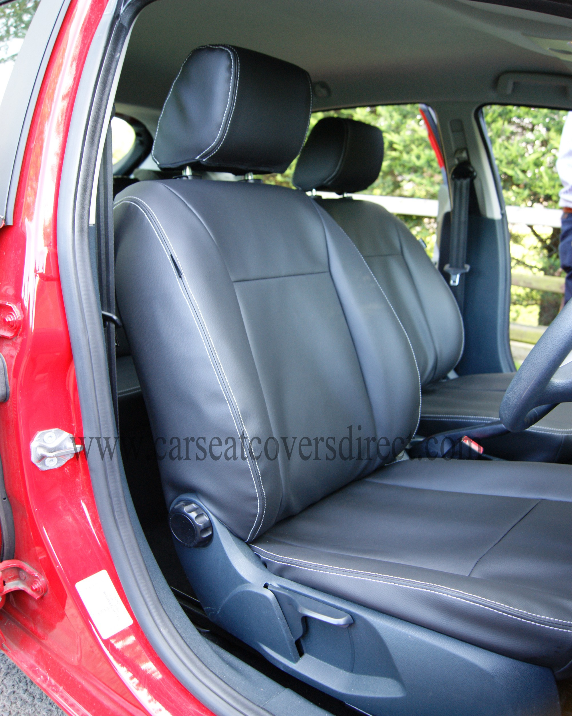 ford fiesta seat covers black leatherette car seat covers direct tailored to your choice. Black Bedroom Furniture Sets. Home Design Ideas