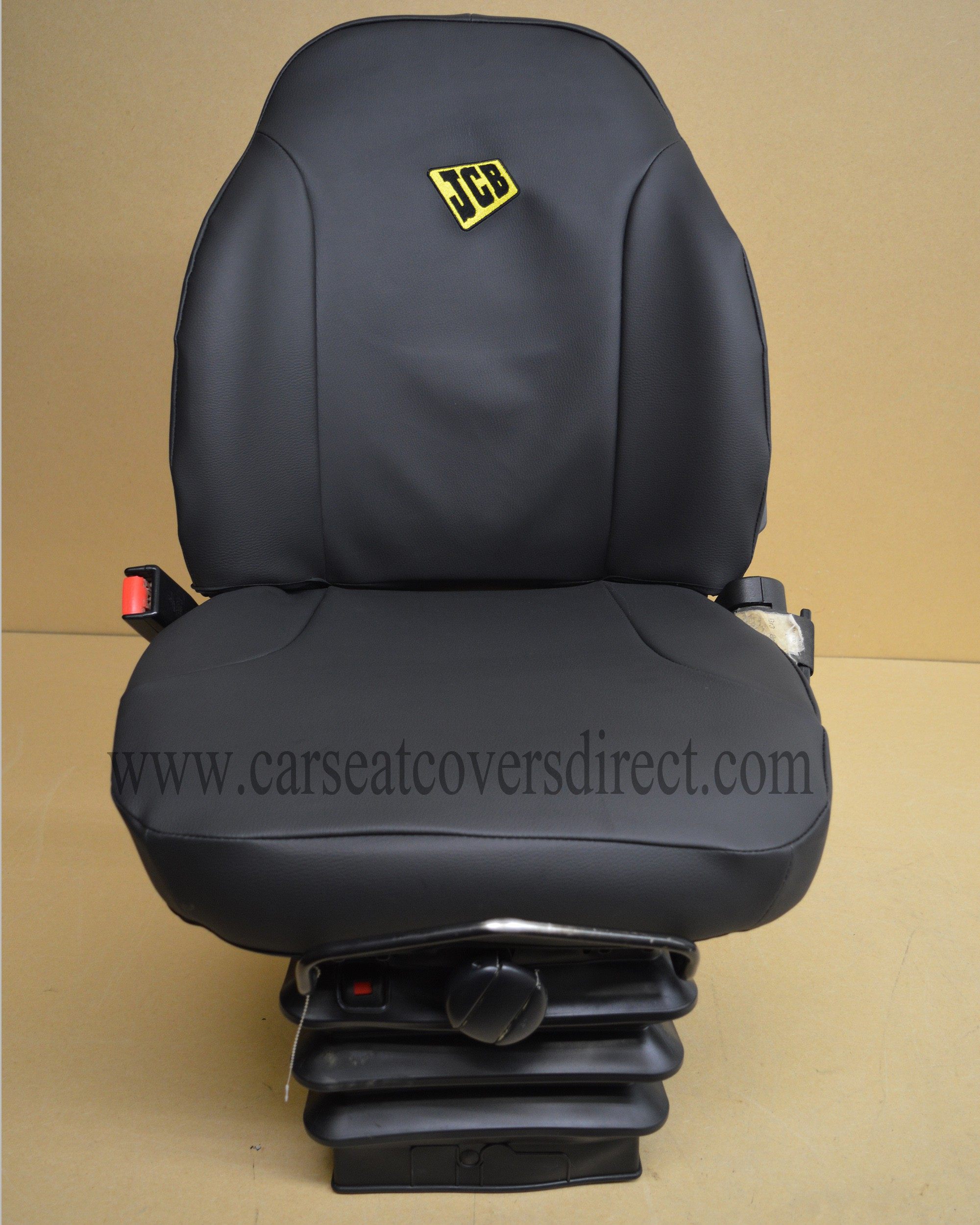 How To Make Car Seat Covers >> JCB 535-140 telescopic seat with black leatherette seat cover
