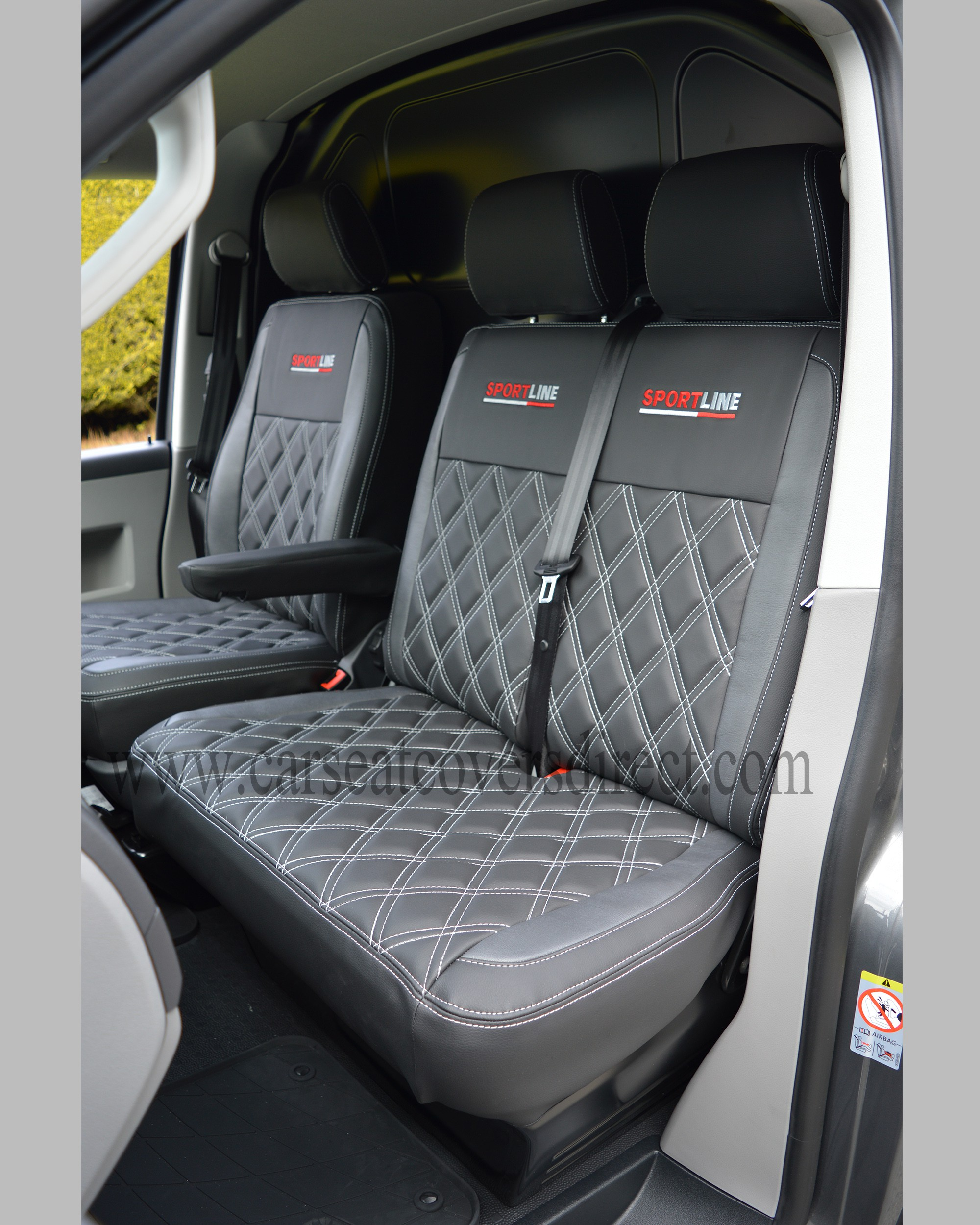 VW T5 Seat Covers Black Pewter Grey