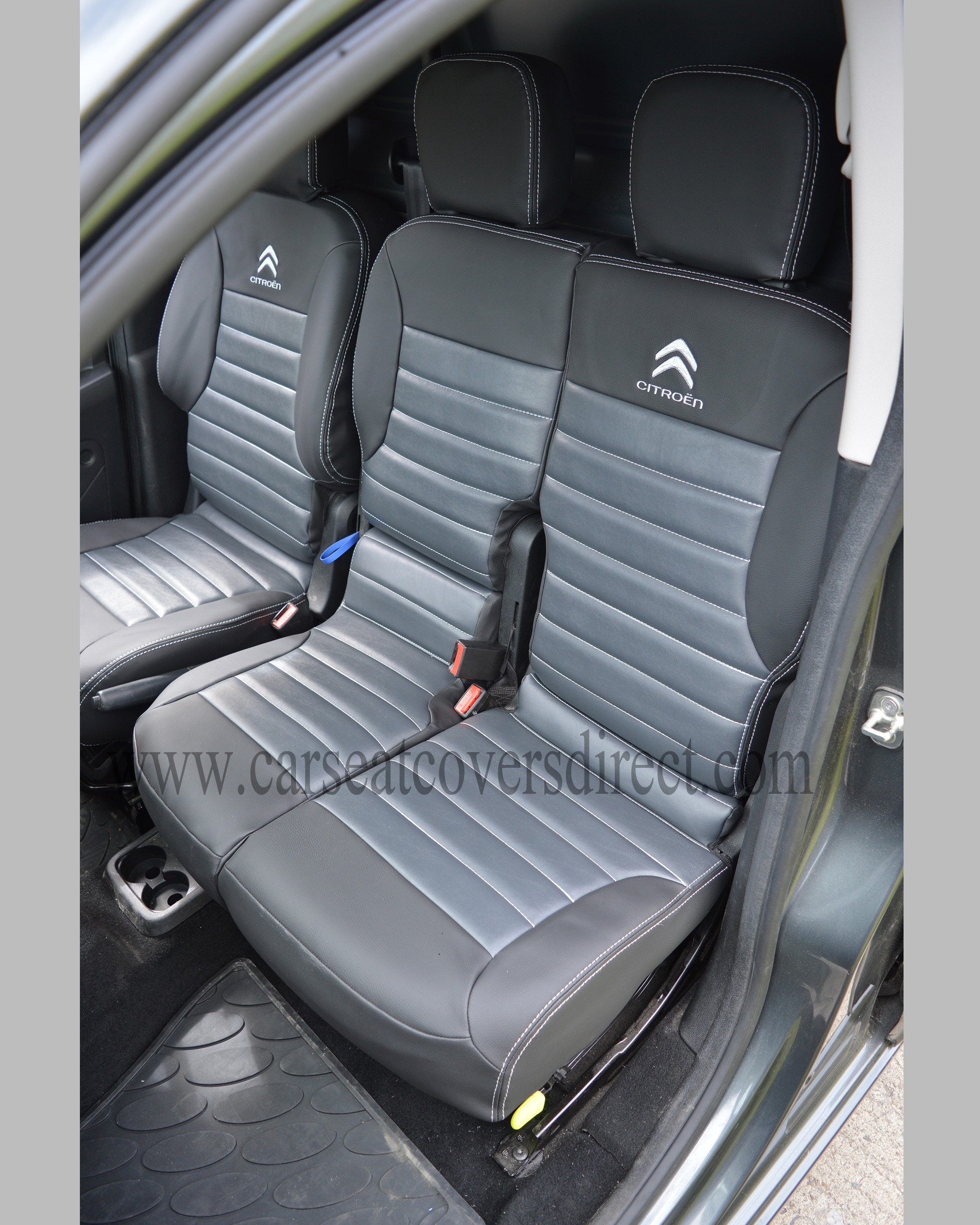 Citroen Berlingo Tailored Quilted Seat Covers Charcoal