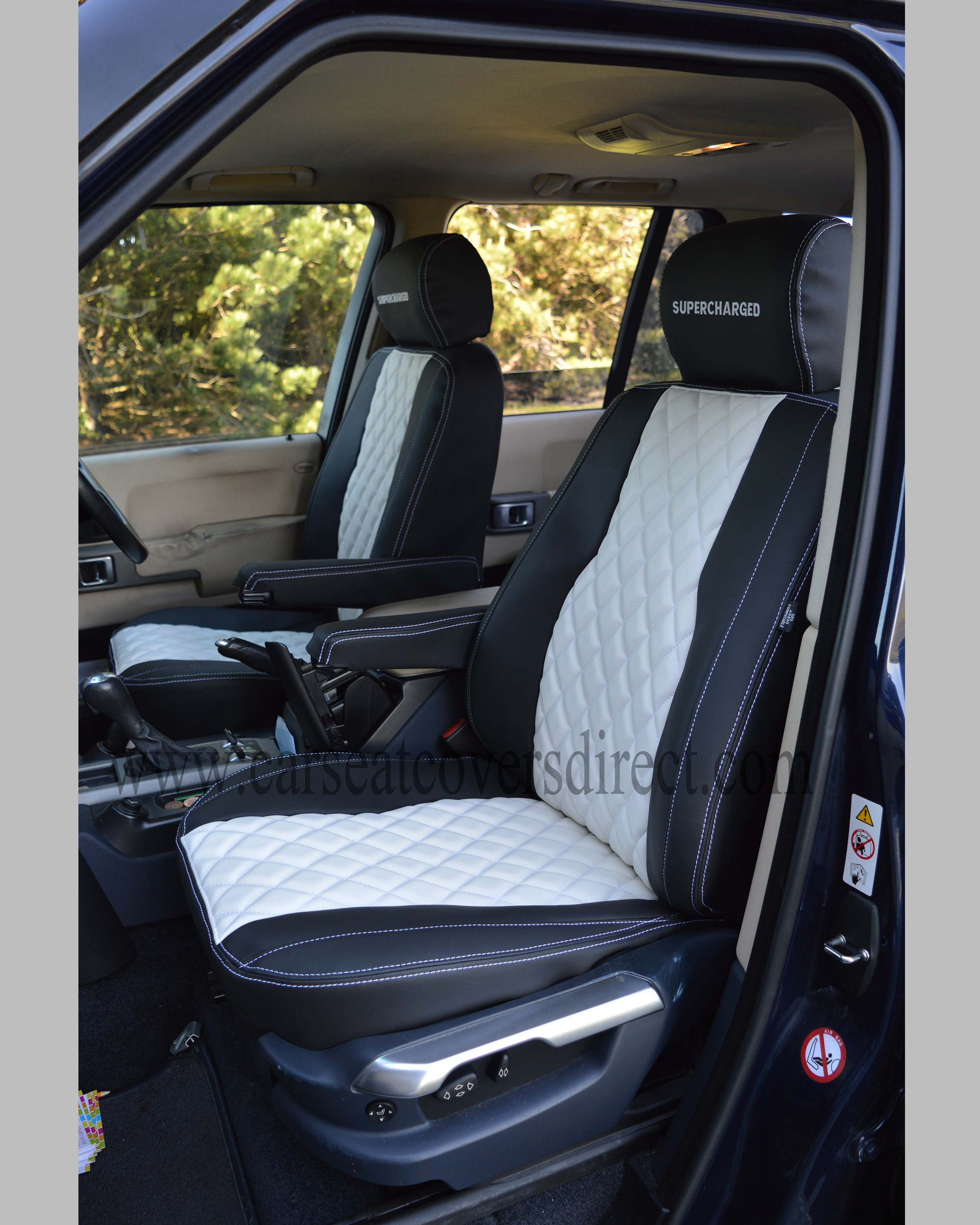 Range Rover Vogue Black  U0026 White Seat Covers