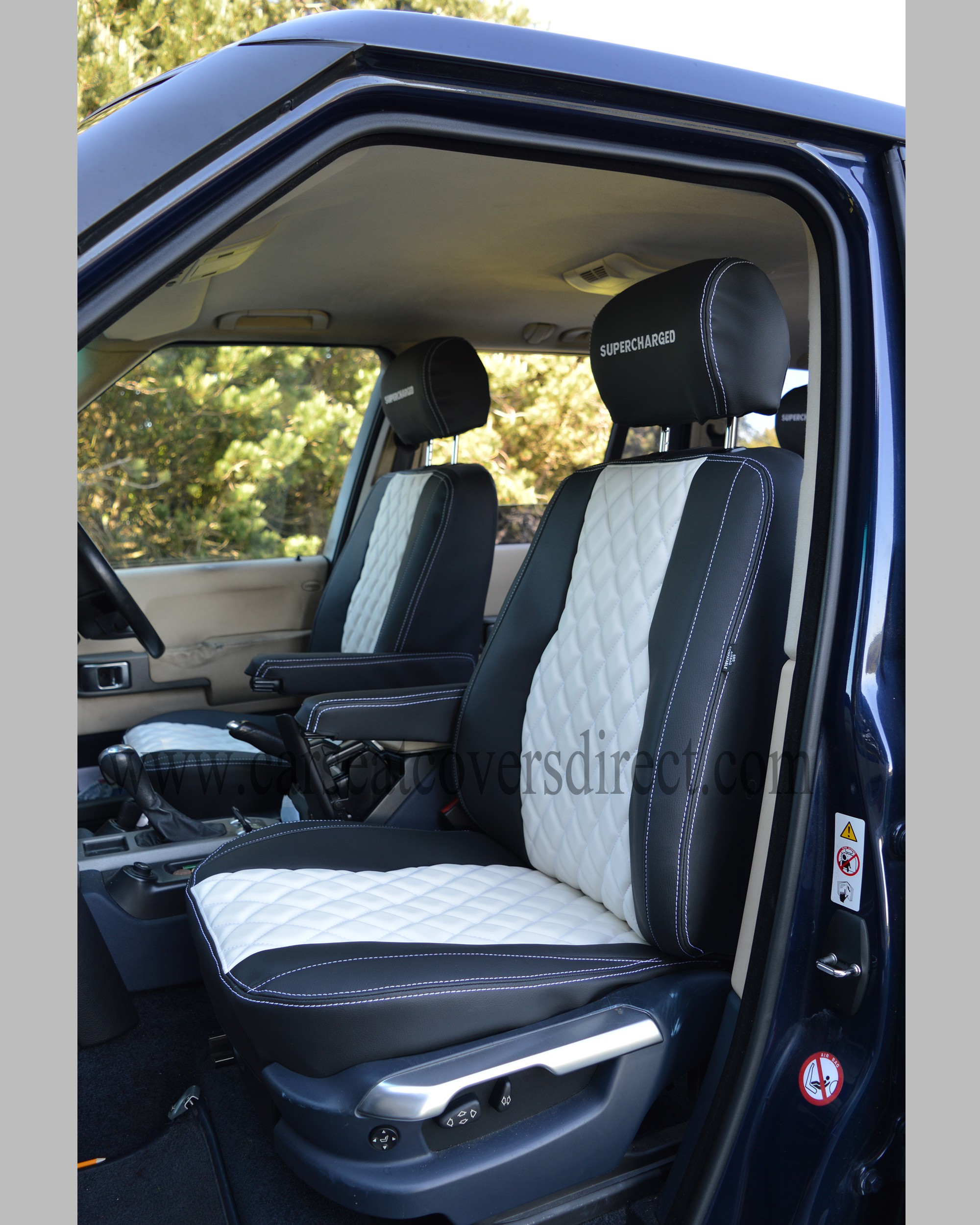 Land Rover 2012 Price: Range Rover Vogue Black & White Seat Covers