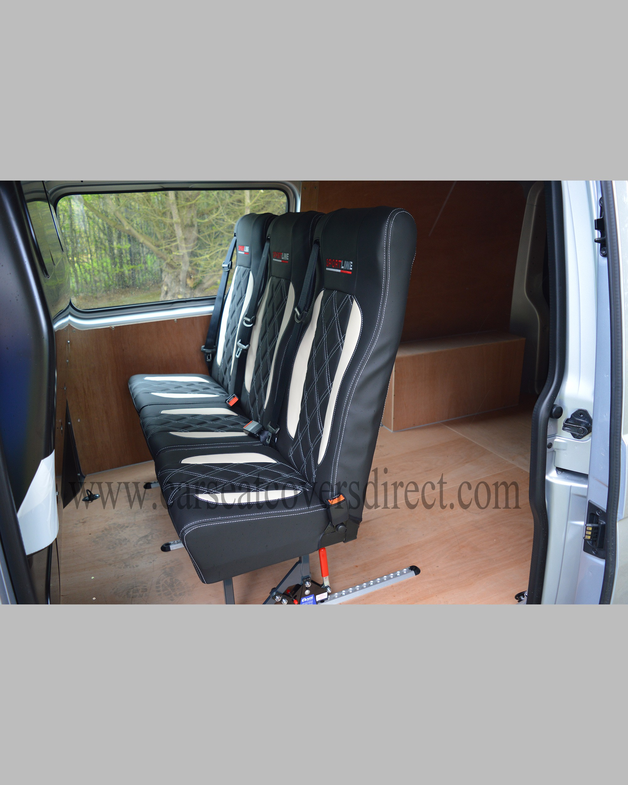 Volkswagen Vw Transporter T5 Black Amp White Seat Covers Car