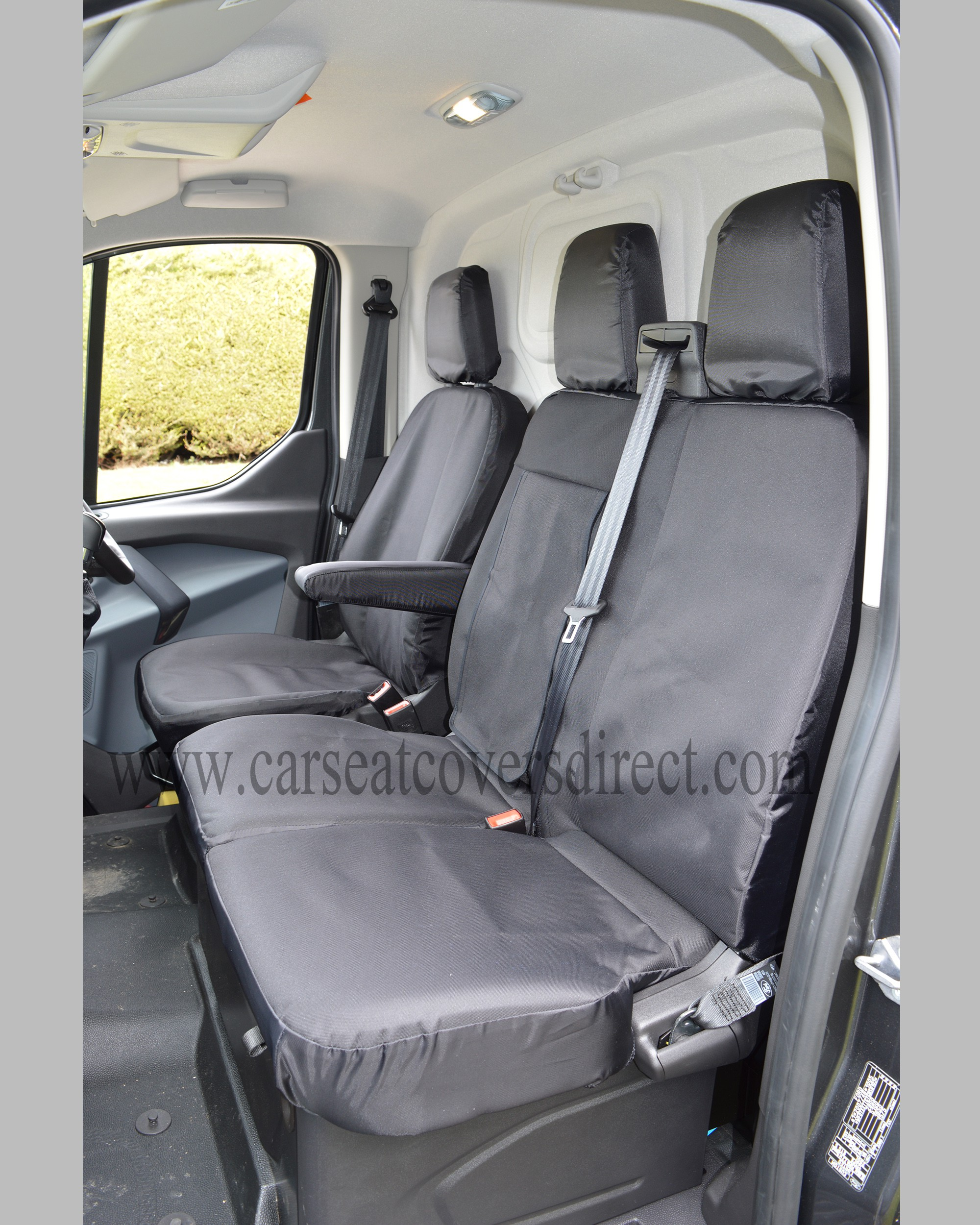 FORD TRANSIT Custom Crewcab Extra Heavy Duty Black Seat Covers Car Seat Covers Direct - Tailored ...