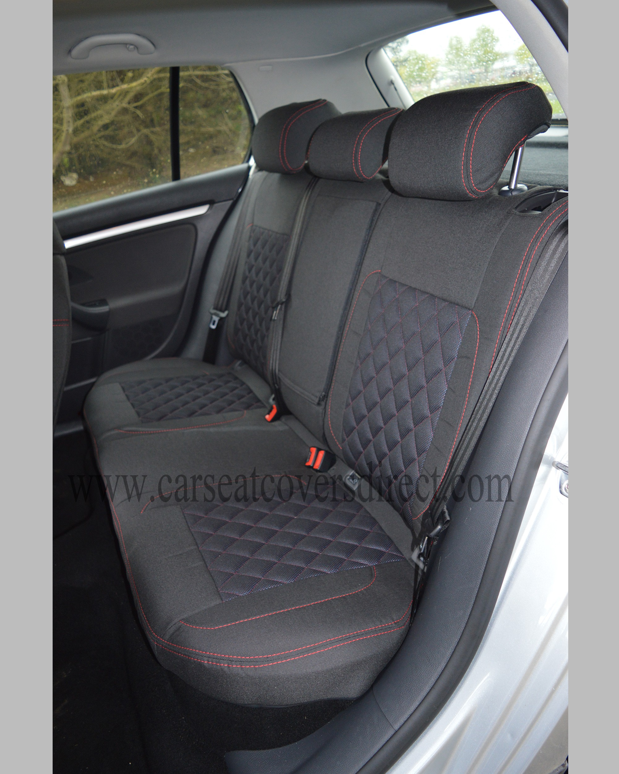 Rear Seats With Diamond Quilted Cloth Seat Cover