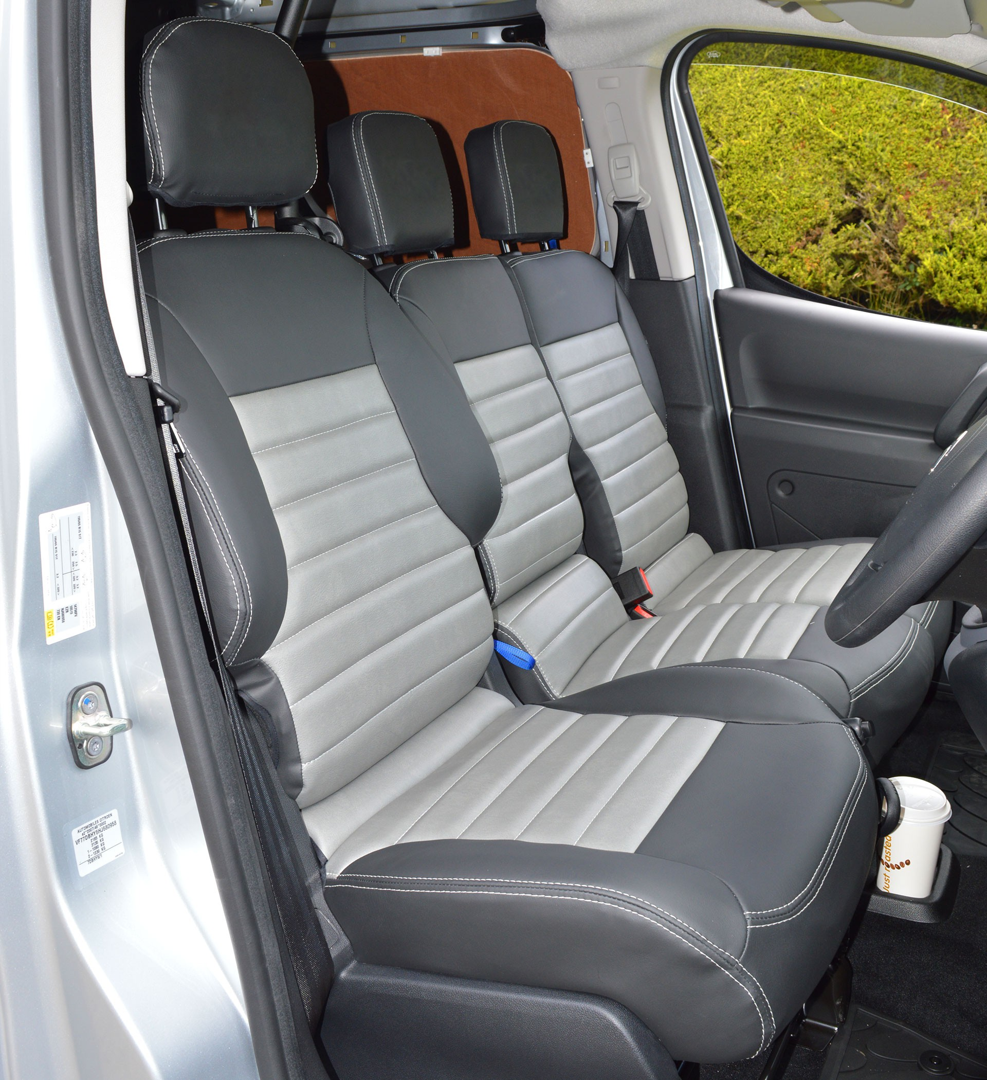 Peugeot Partner Tailored Quilted Waterproof Van Seat Covers ...