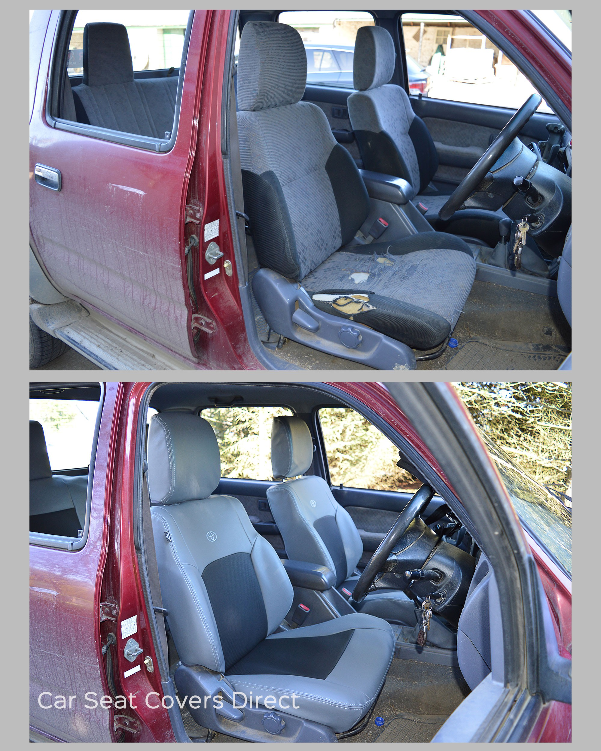Fantastic Toyota Hilux 1997 2005 Tailored Seat Covers Forli Grey Pvc With Black Perforated Centres Short Links Chair Design For Home Short Linksinfo