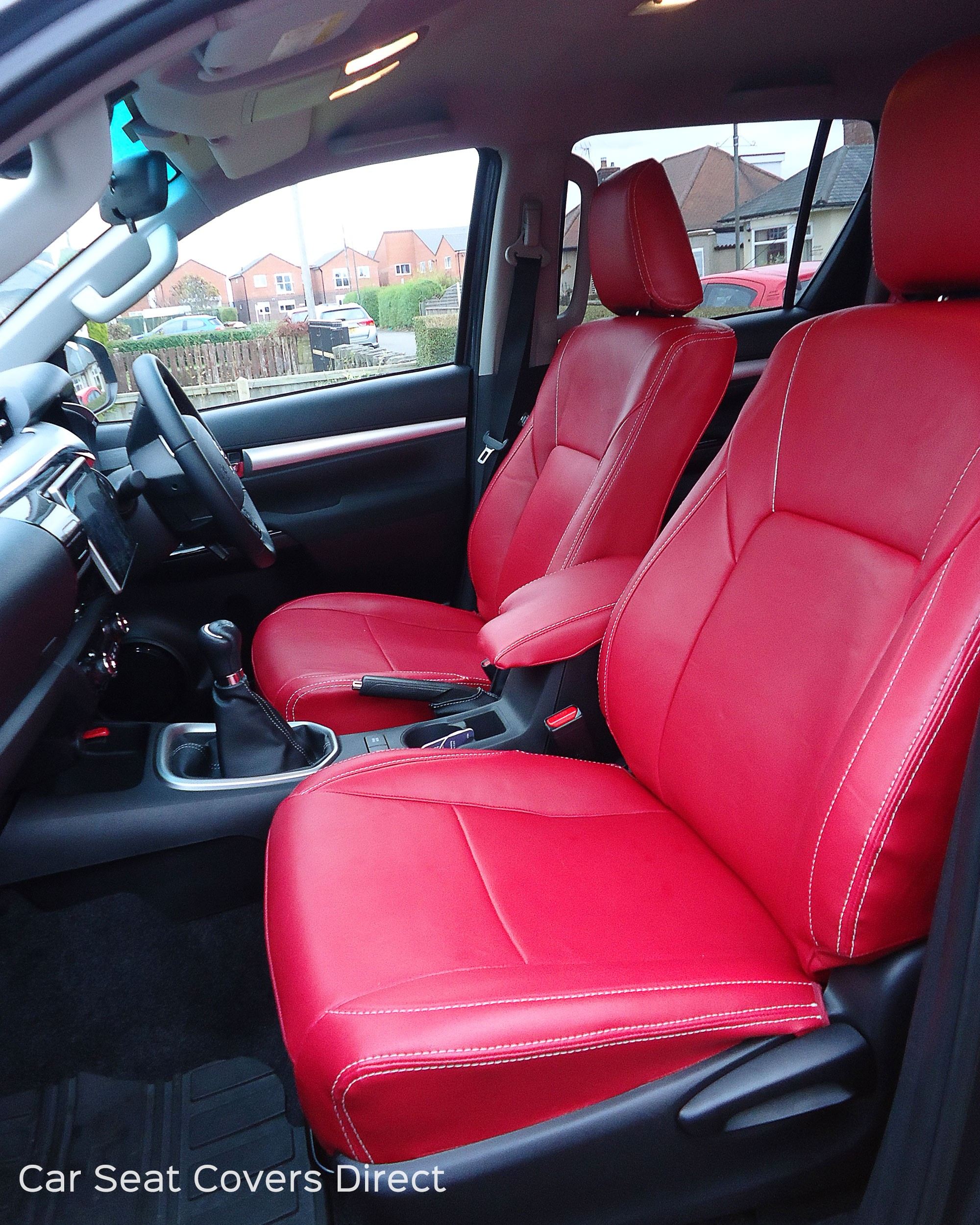 Superb Red Leather Seat Covers Short Links Chair Design For Home Short Linksinfo
