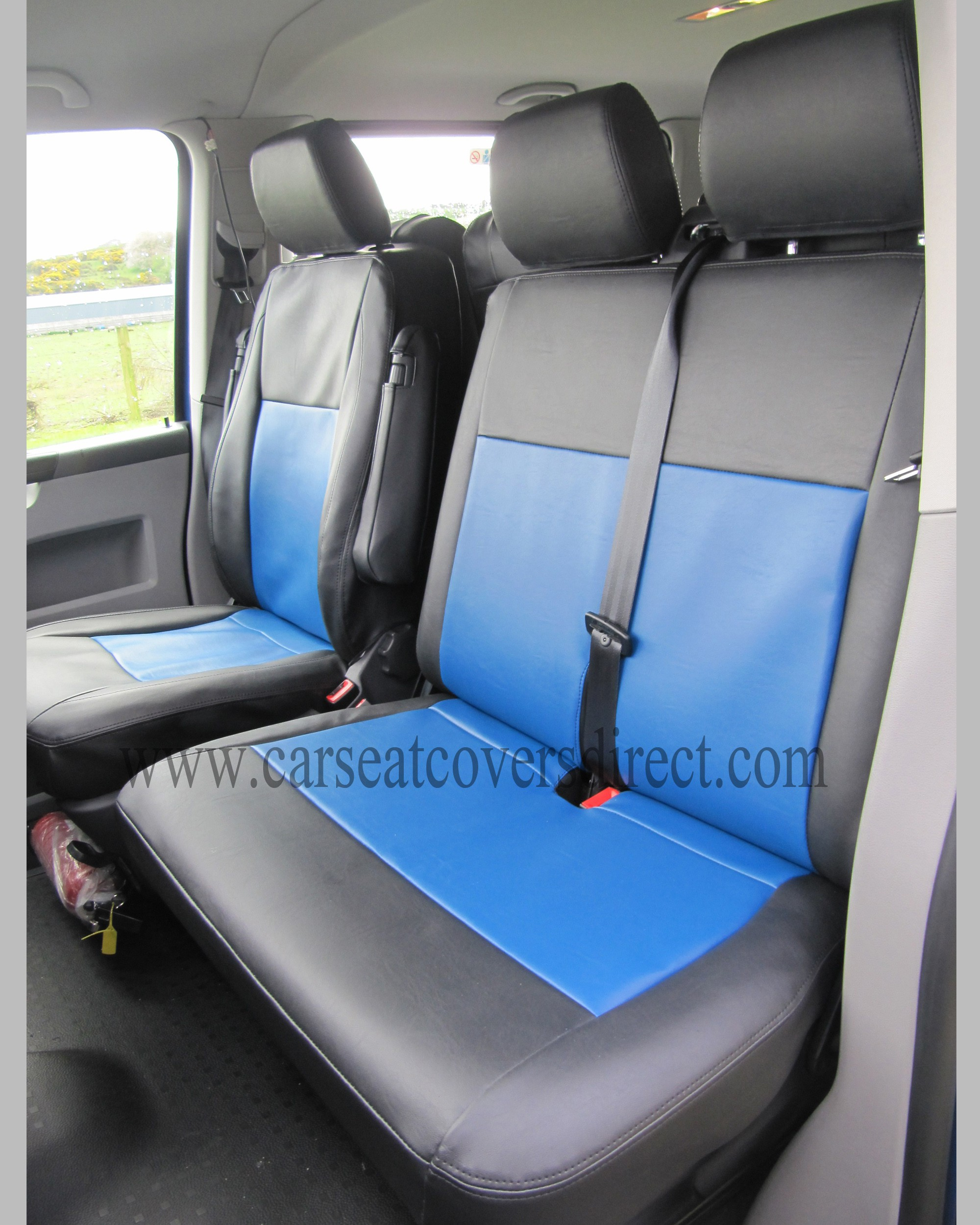 Volkswagen Vw Transporter T5 9 Seater Black Amp Blue Seat Covers