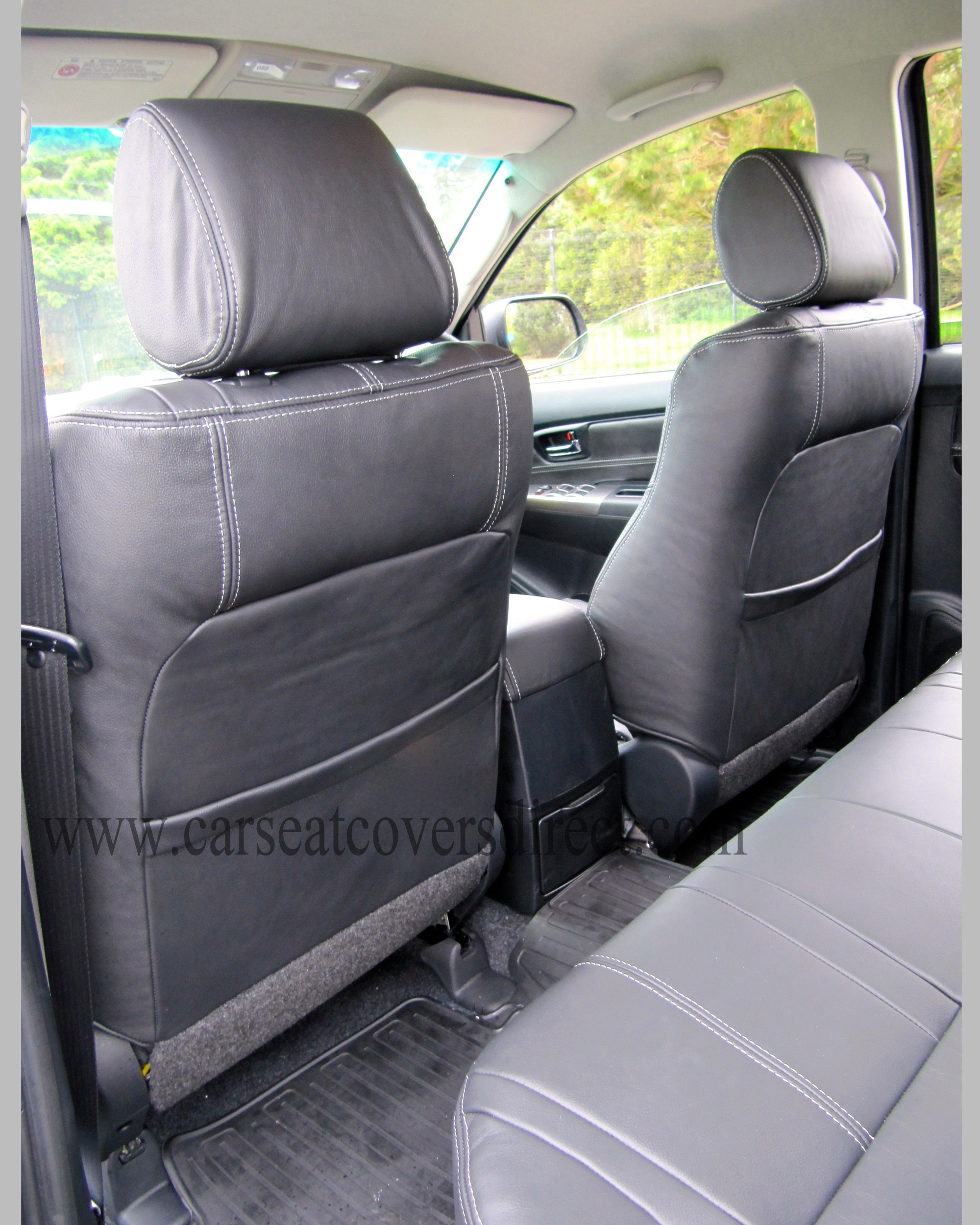 toyota hilux invincible leather retrim car seat covers direct tailored to your choice. Black Bedroom Furniture Sets. Home Design Ideas