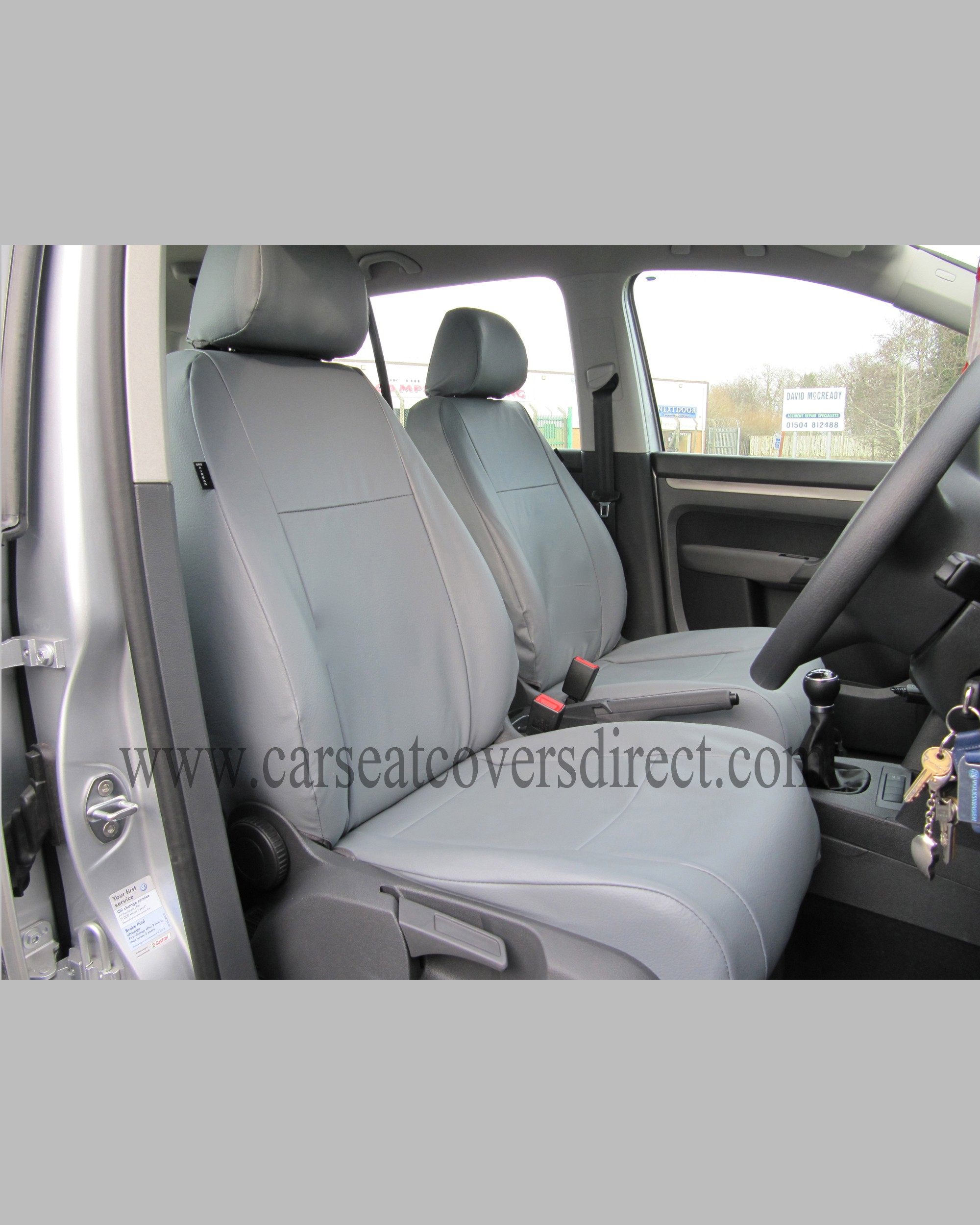 VOLKSWAGEN VW TOURAN Grey Seat Covers Front Seats Only