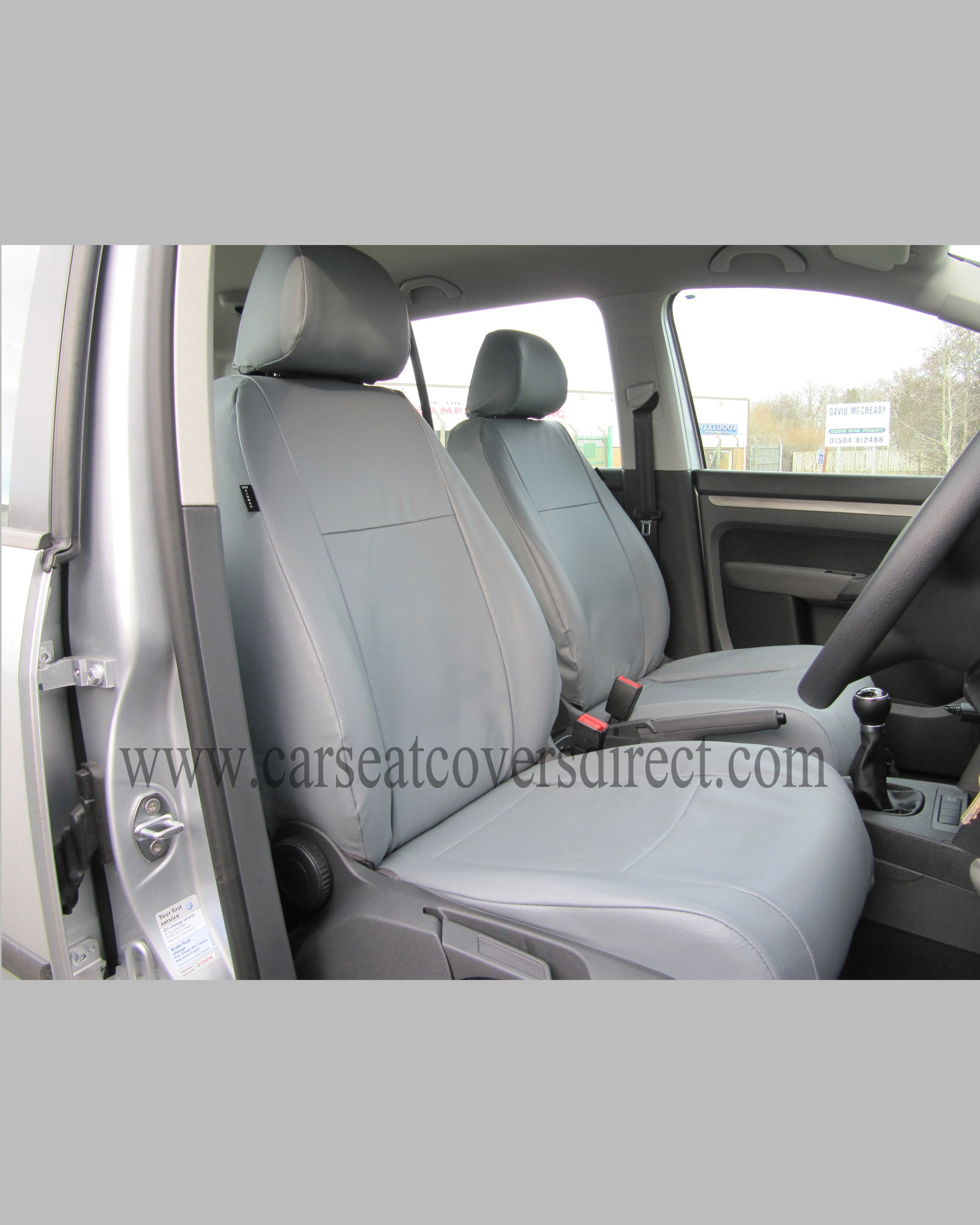 volkswagen vw touran grey seat covers front seats only custom car seat covers custom. Black Bedroom Furniture Sets. Home Design Ideas