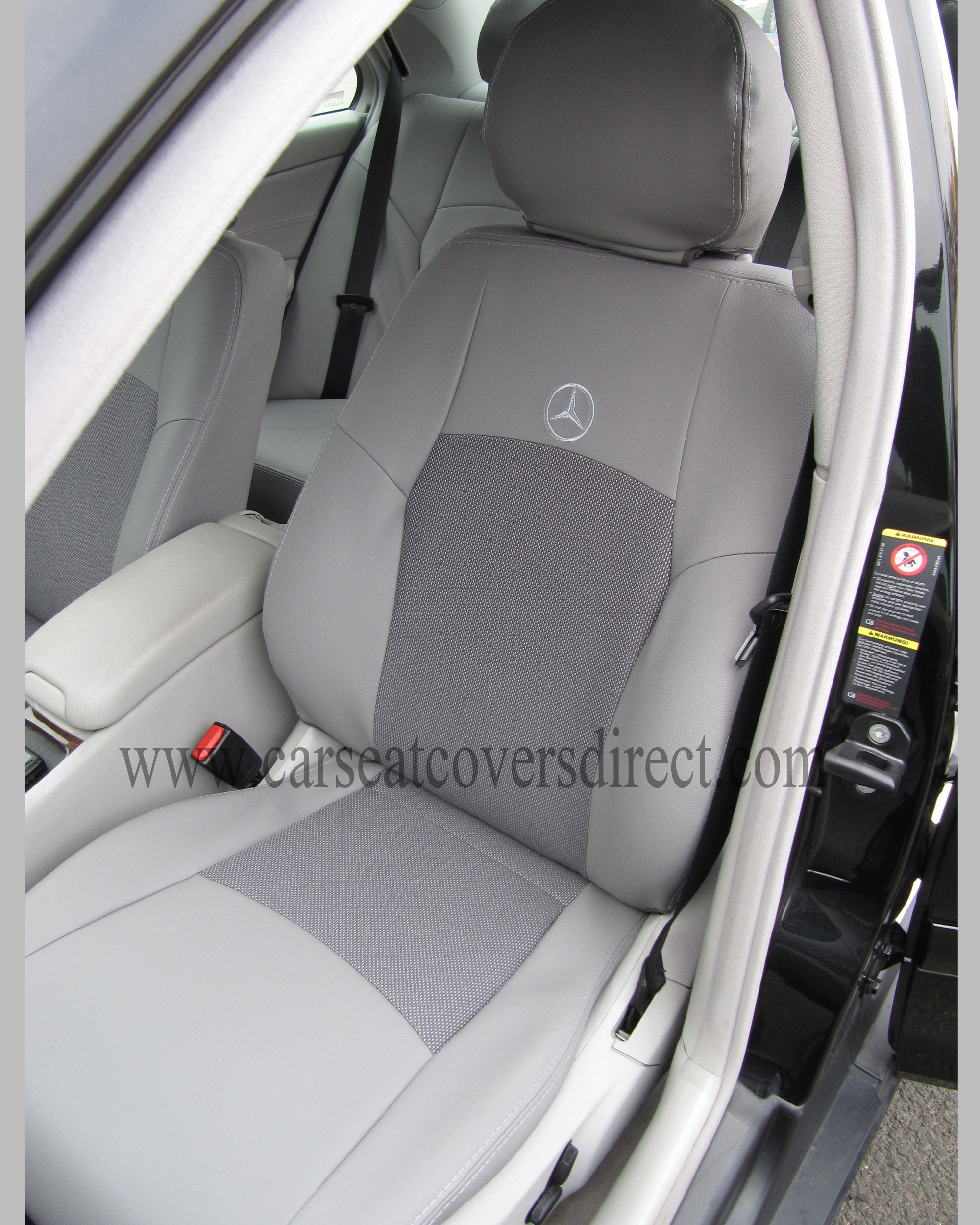 mercedes c class w203 grey leatherette seat covers car seat covers direct tailored to your choice. Black Bedroom Furniture Sets. Home Design Ideas