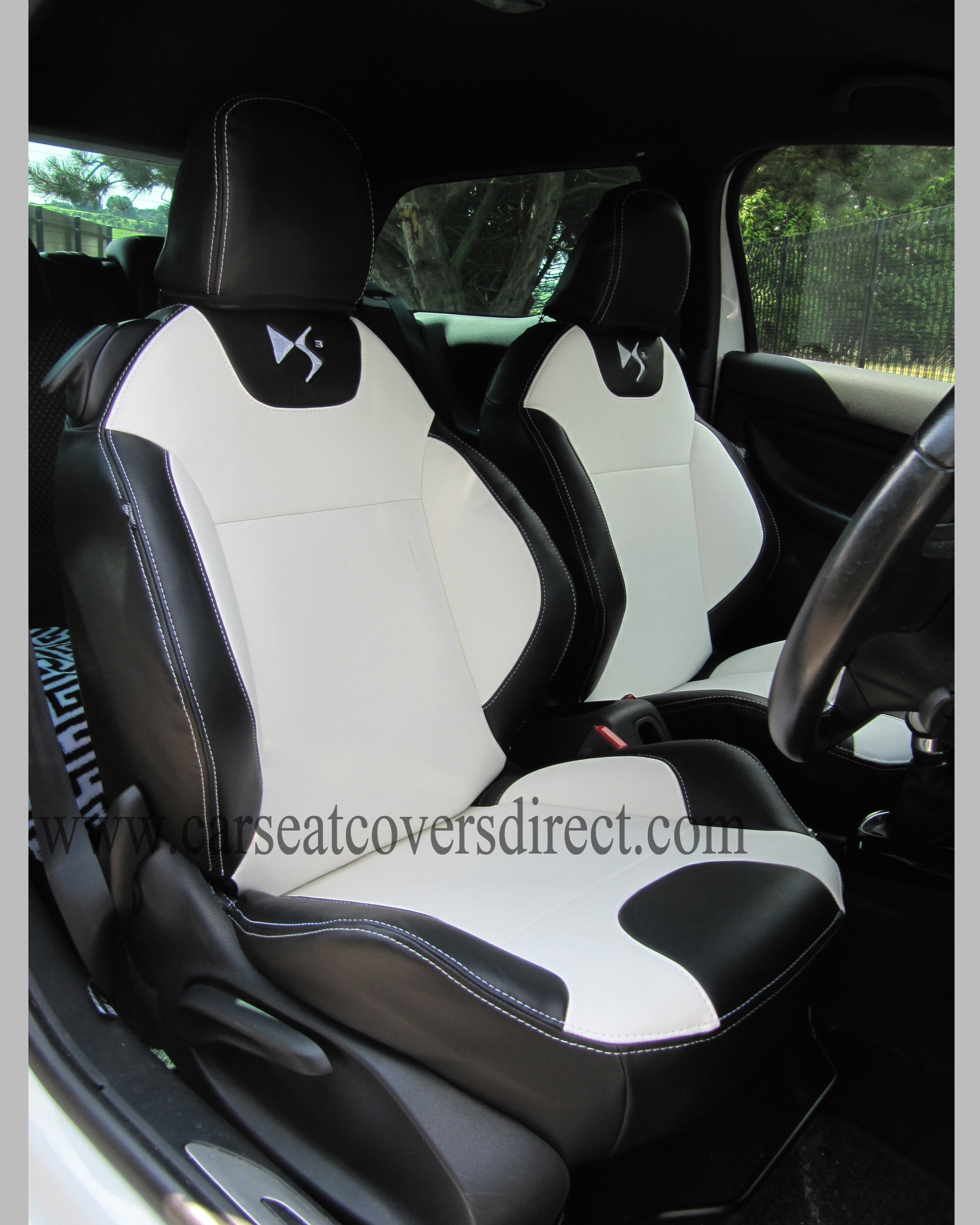 BMW Seat Belt Cover >> DS3 Seat Covers - Black & White