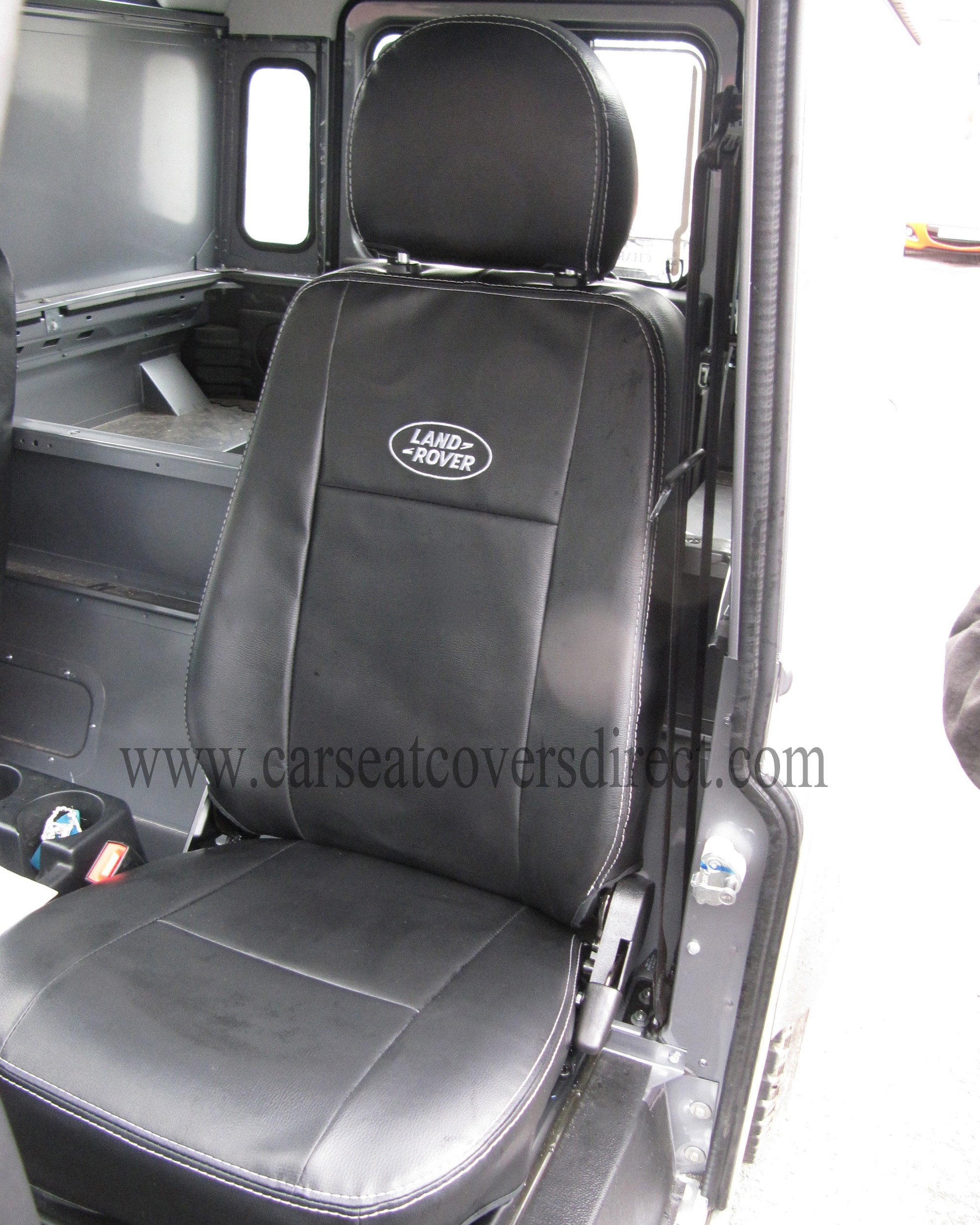 LANDROVER DEFENDER Black Leatherette Seat Covers