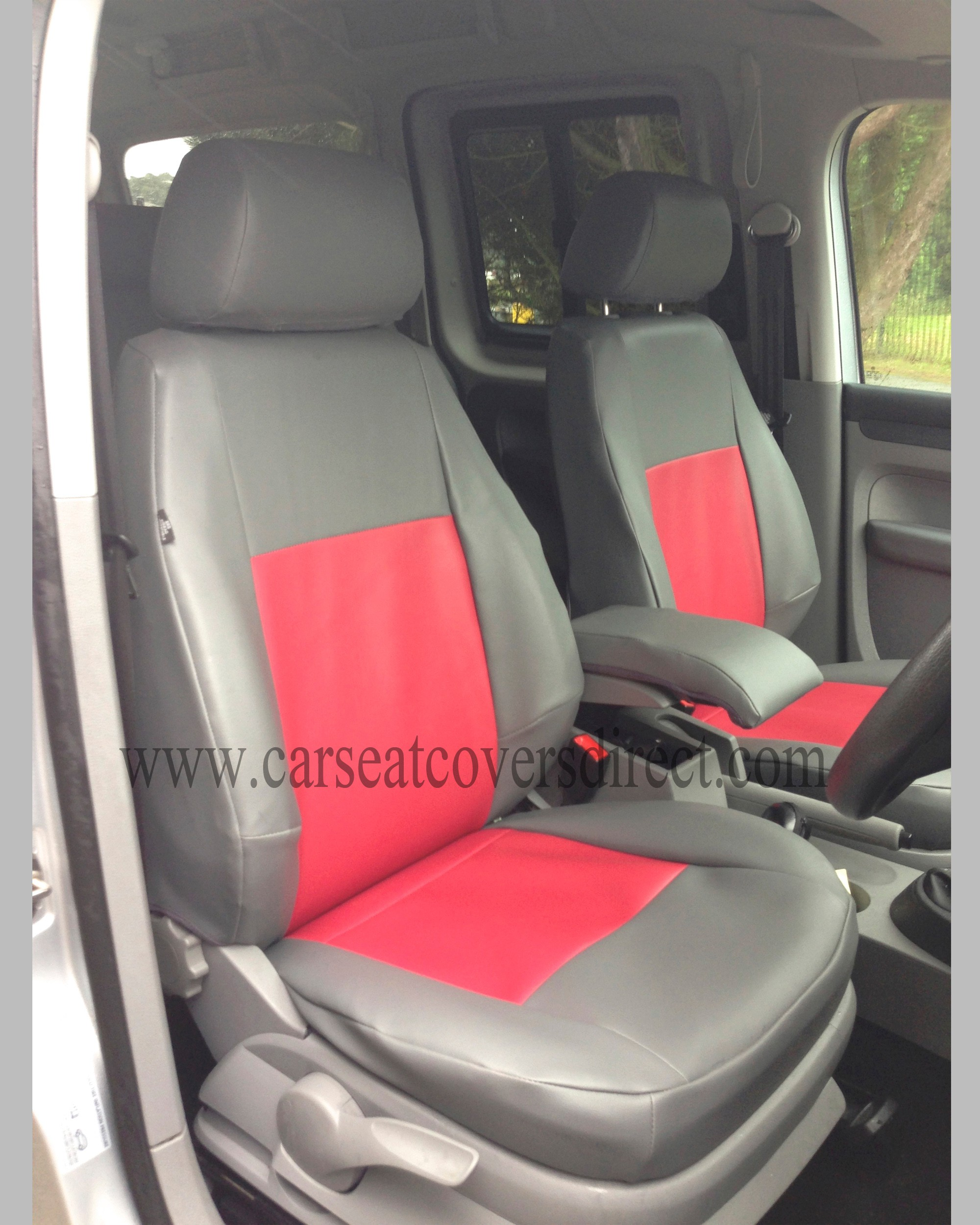 VOLKSWAGEN VW Caddy Life Grey Amp Red Seat Covers Car Seat
