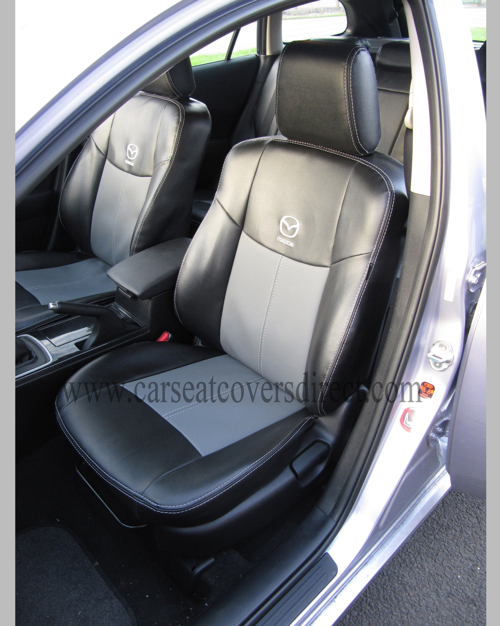 MAZDA 6 2ND GEN Black And Grey Leatherette Seat Covers