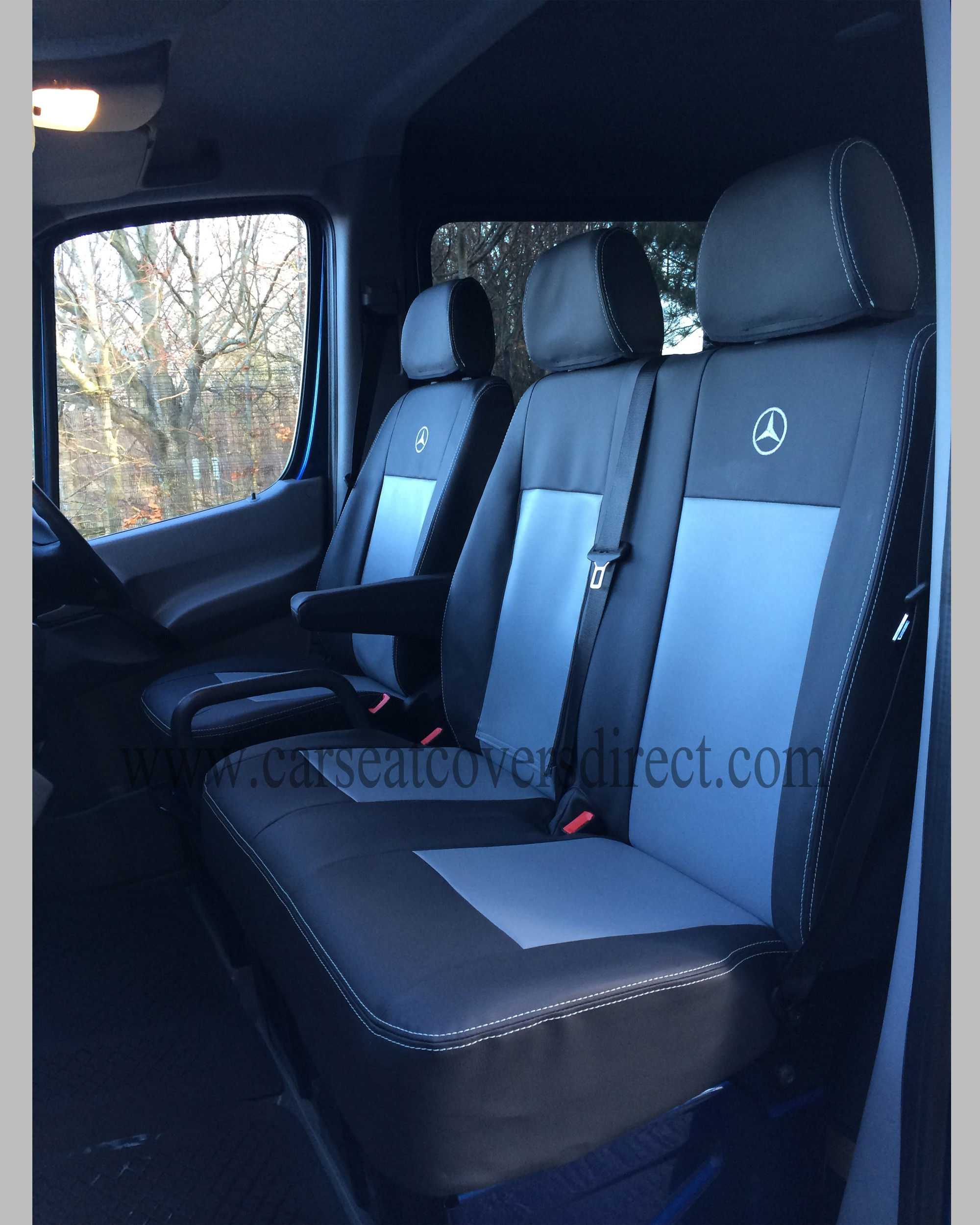 Mercedes Sprinter Van >> Mercedes Sprinter Seat Covers - Black & Grey